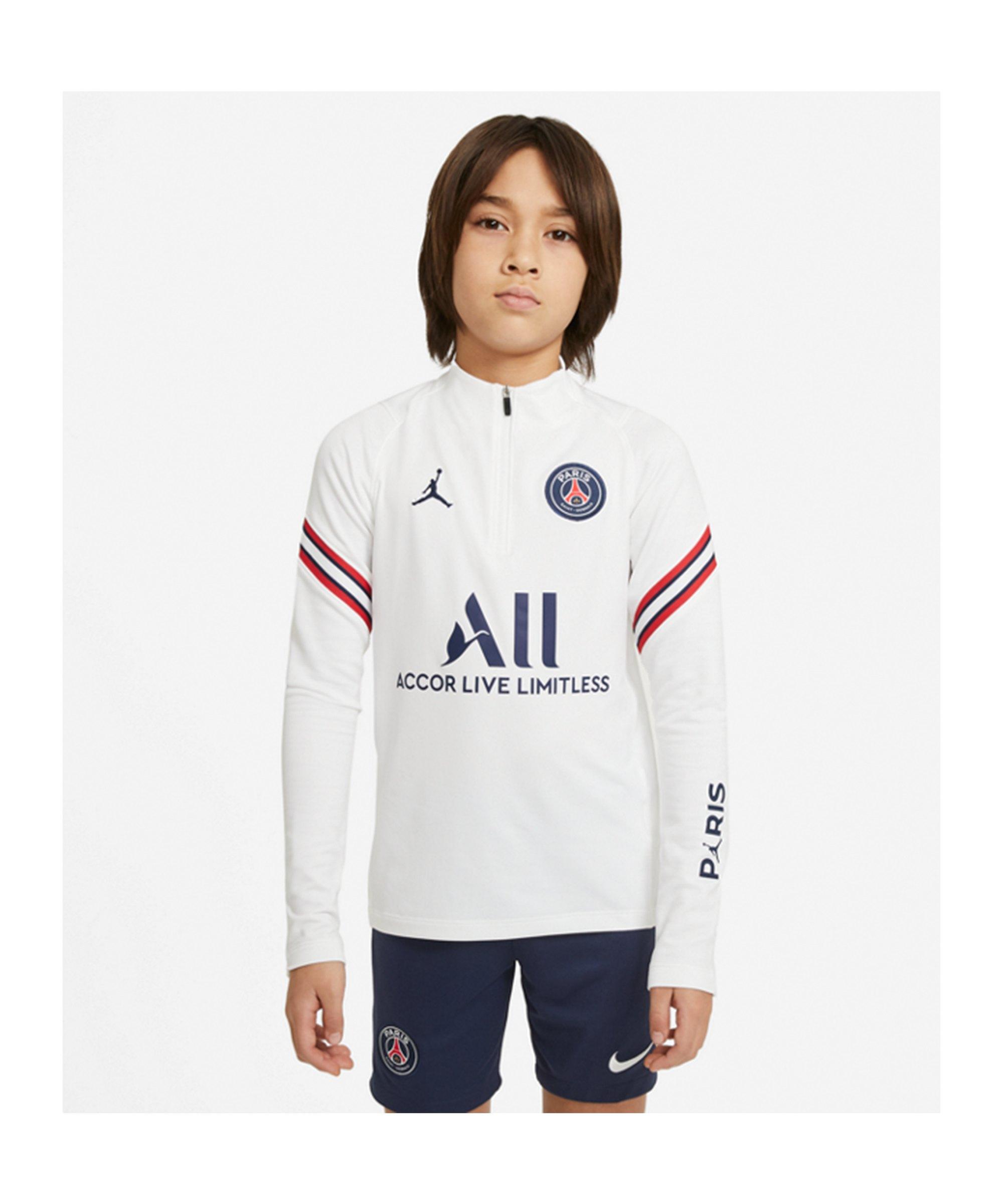 Jordan Paris St. Germain Drill Top Kids Weiss F101 - weiss