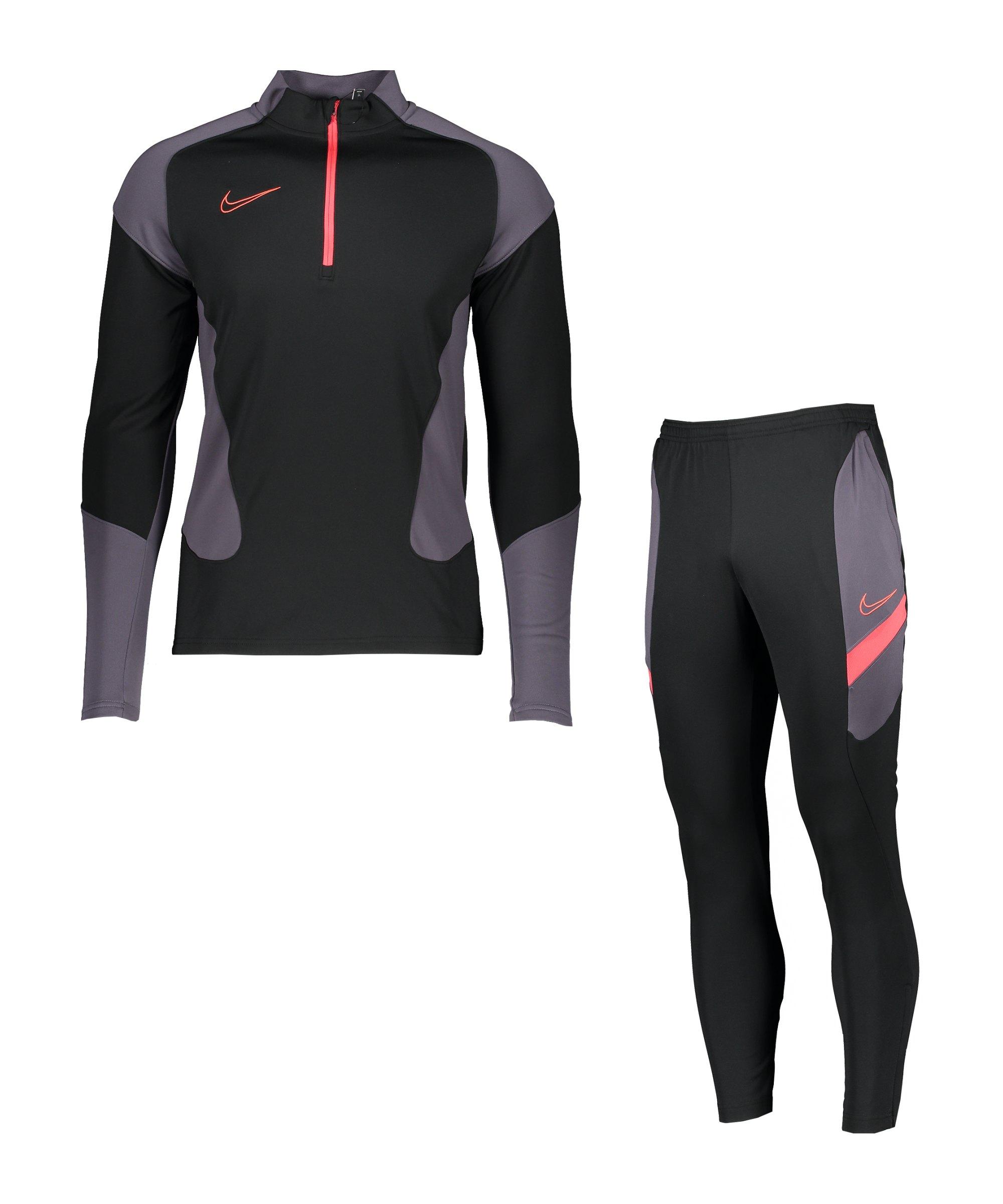 Nike Dri-Fit Academy Trainingsanzug Schwarz F010 - schwarz