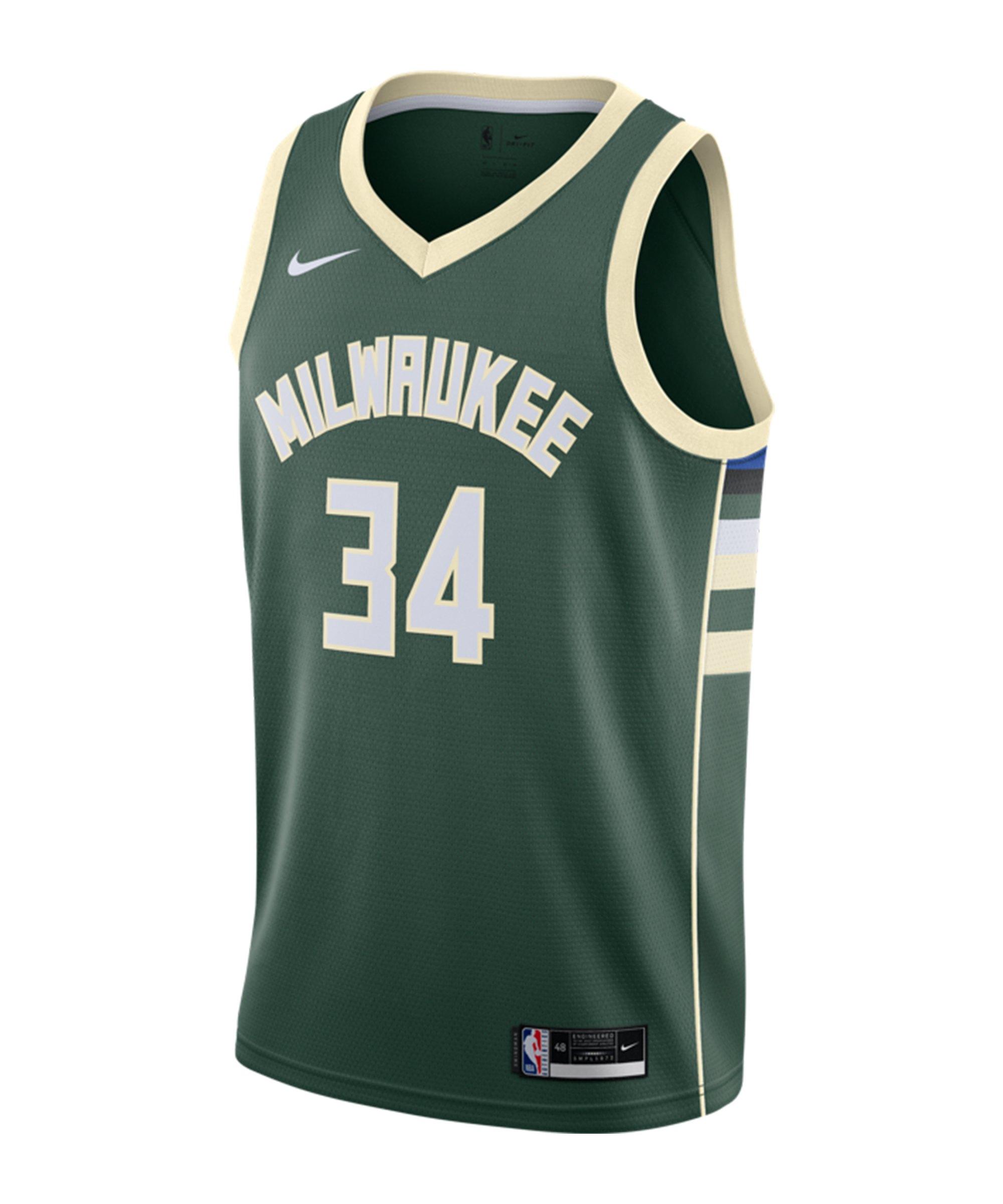 Nike Milwaukee Buck Jersey 2020 Grün F329 - gruen