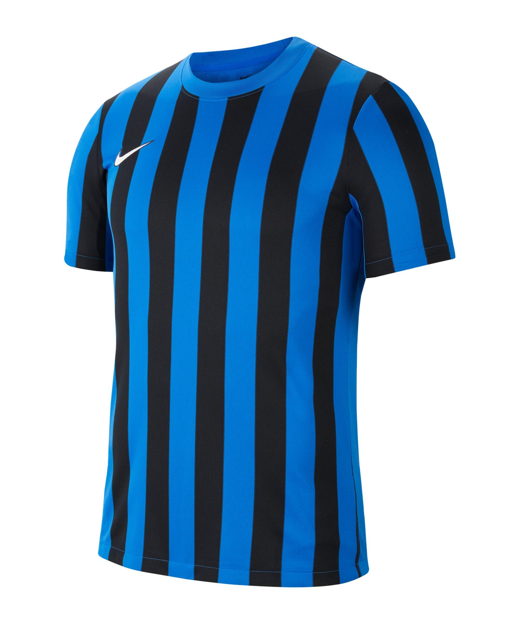 Nike Division IV Striped Trikot kurzarm Blau F463 - blau