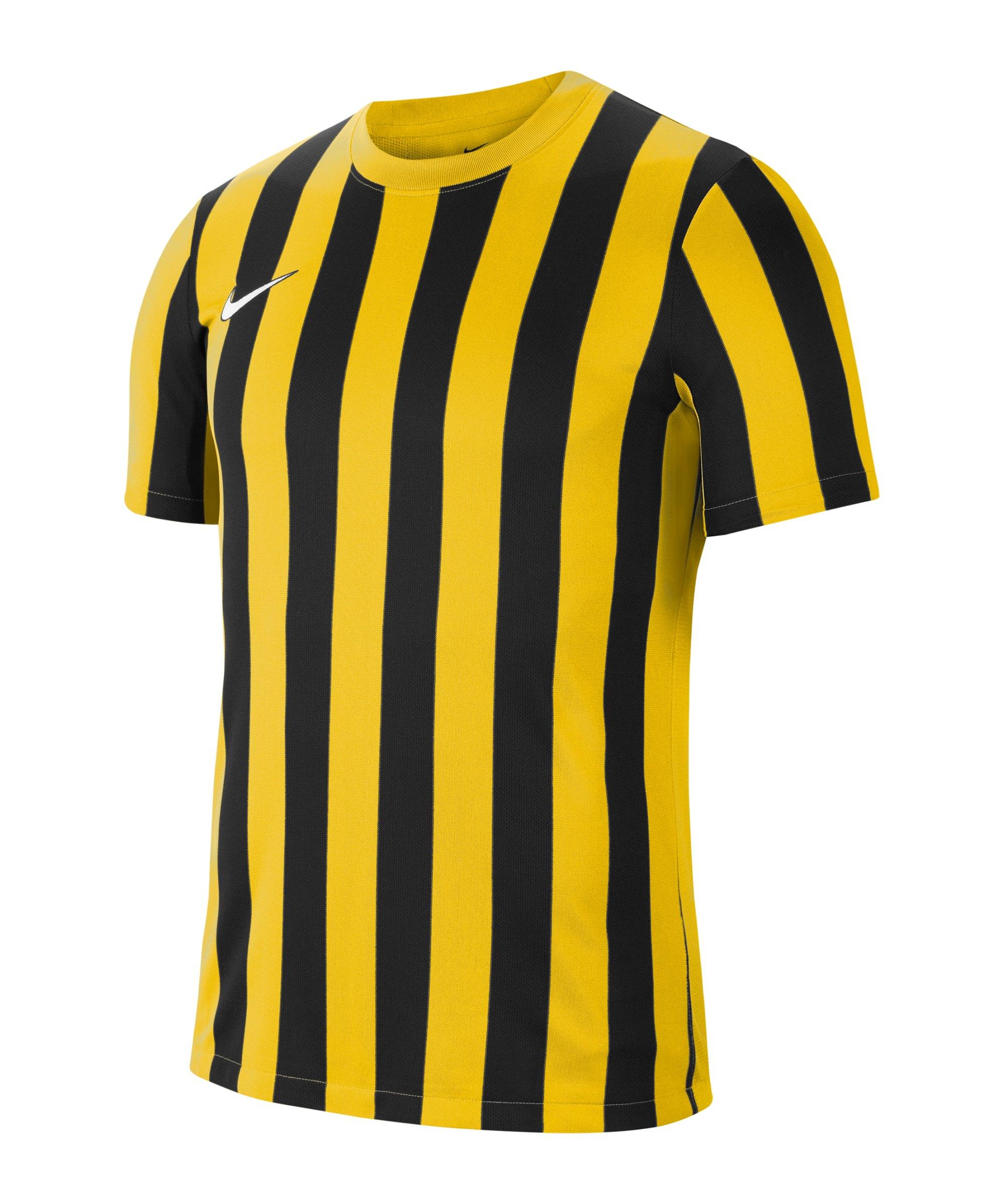 Nike Division IV Striped Trikot kurzarm Gelb F719 - gelb