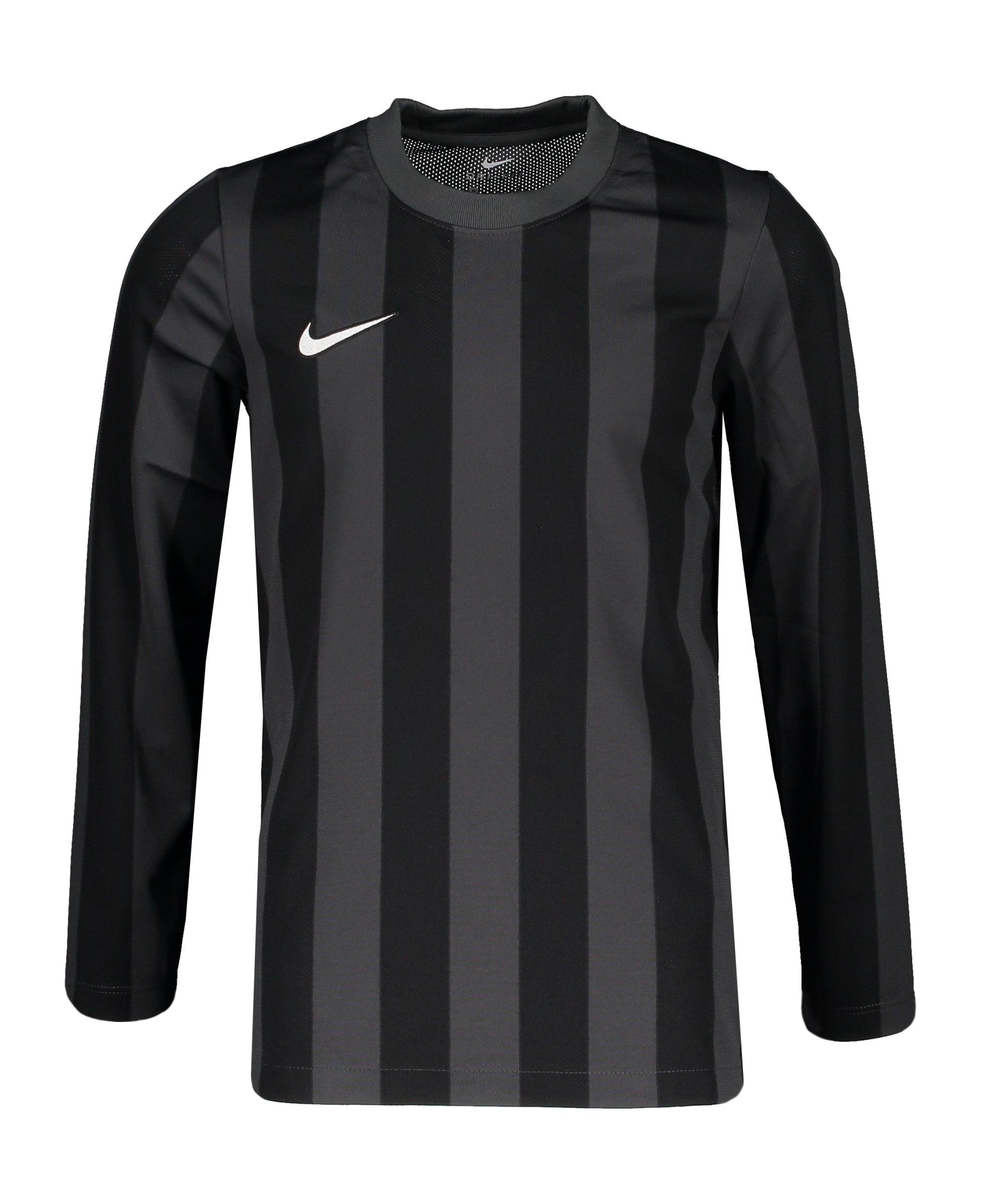 Nike Division IV Striped Trikot langarm Kids F060 - grau