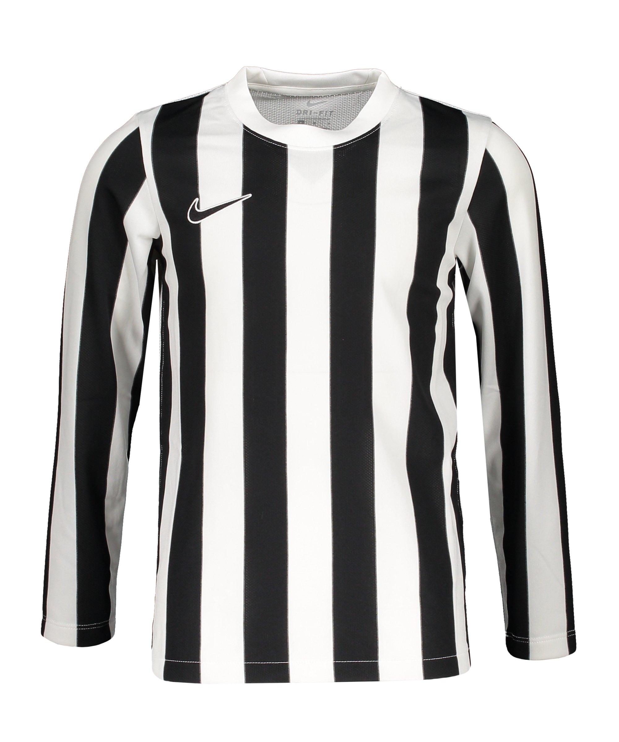 Nike Division IV Striped Trikot langarm Kids F100 - weiss