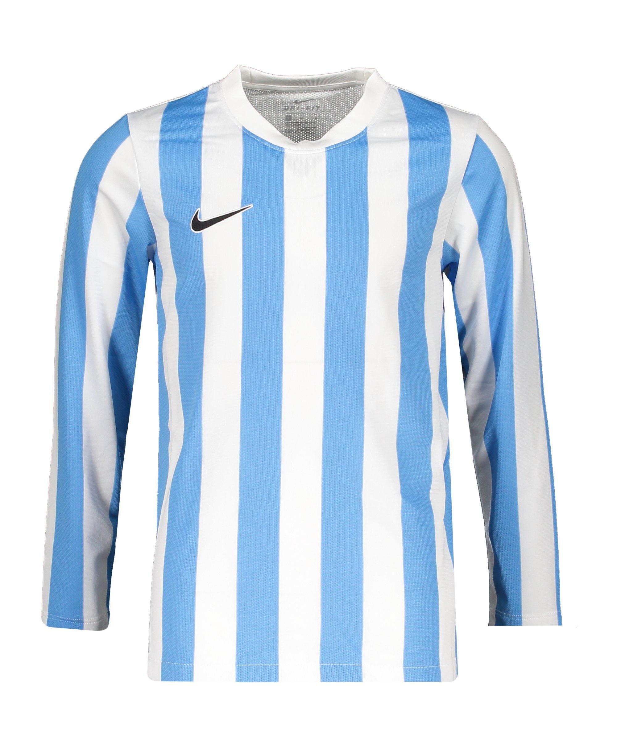 Nike Division IV Striped Trikot langarm Kids F103 - weiss