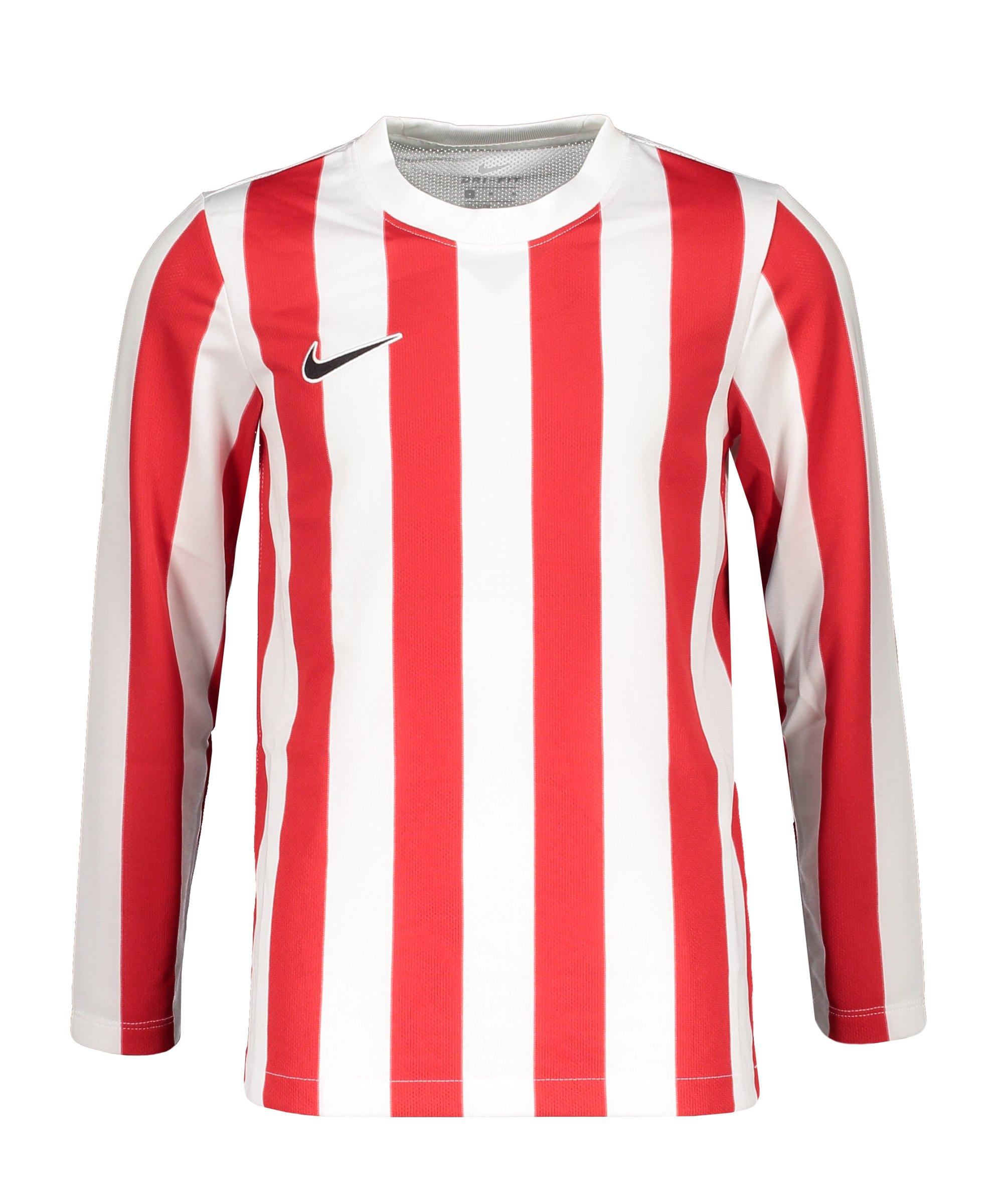 Nike Division IV Striped Trikot langarm Kids F104 - weiss