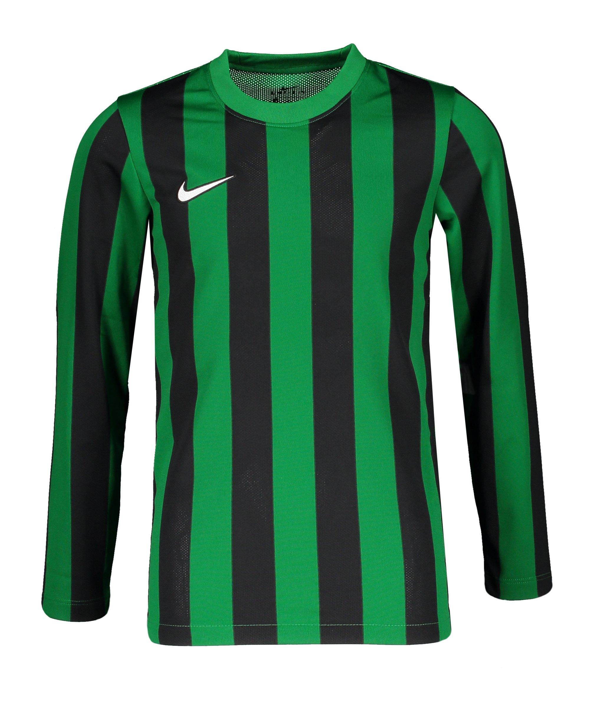 Nike Division IV Striped Trikot langarm Kids F302 - gruen