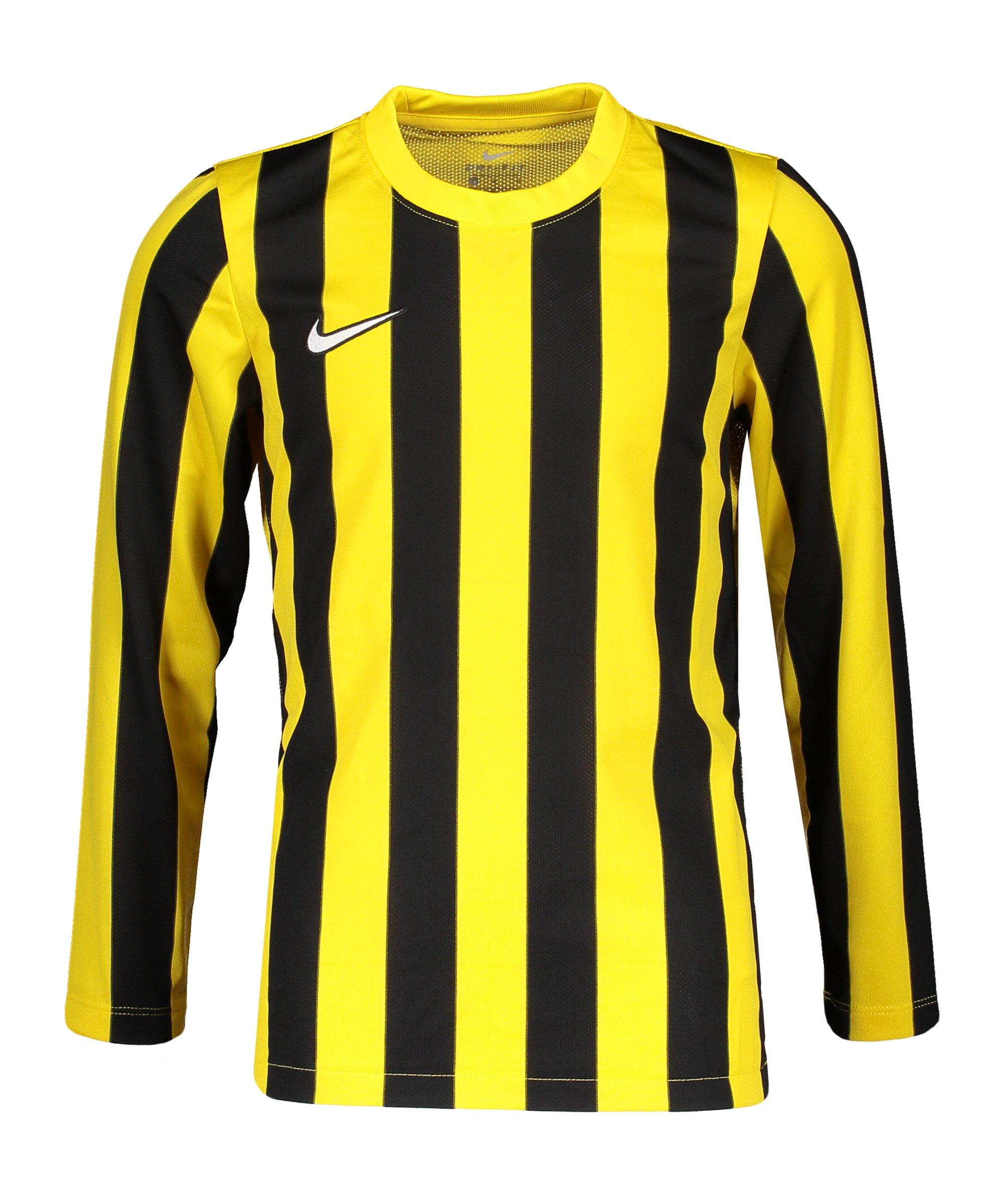 Nike Division IV Striped Trikot langarm Kids F719 - gelb