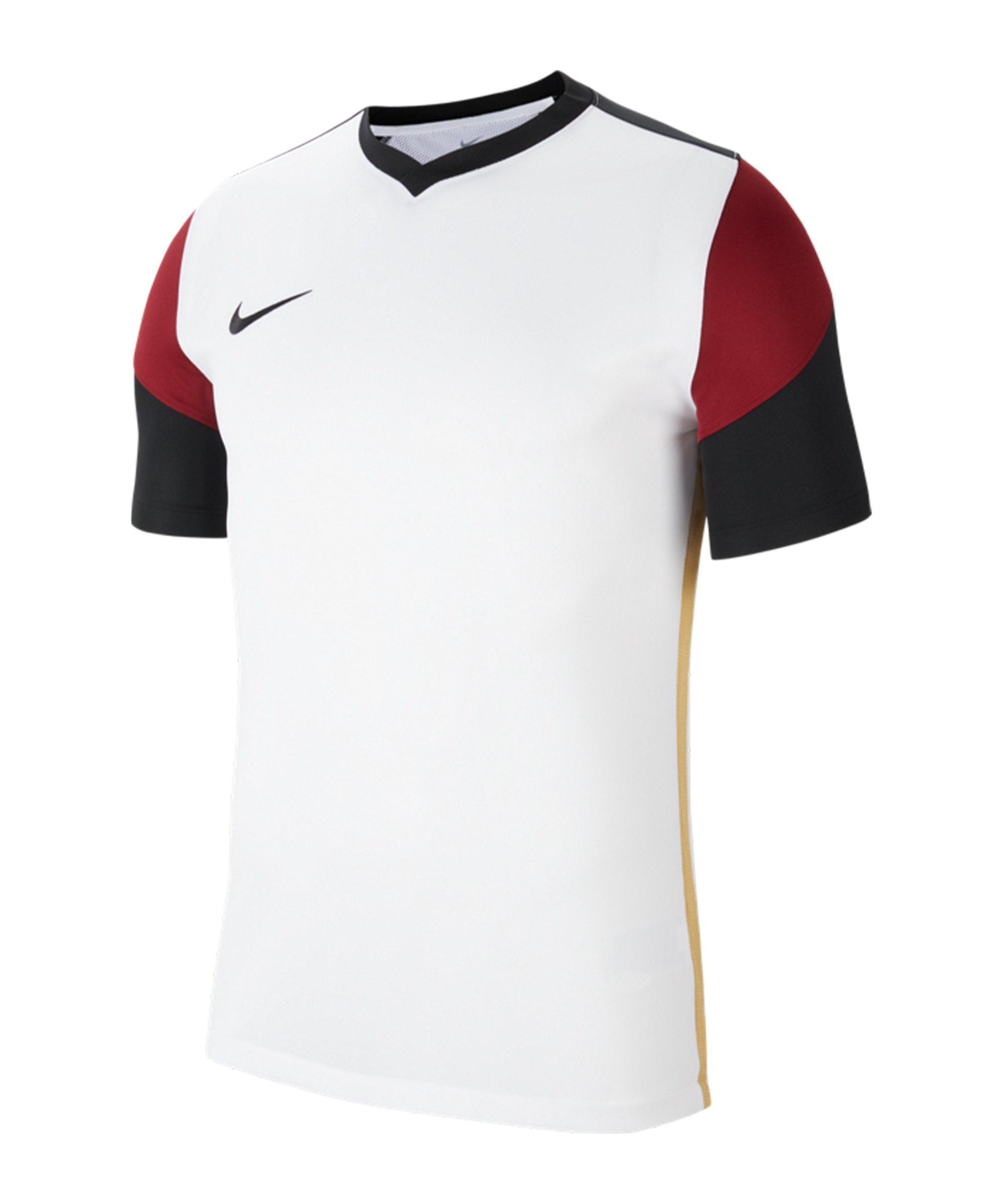 Nike Park Derby III Trikot kurzarm Weiss Rot F100 - weiss