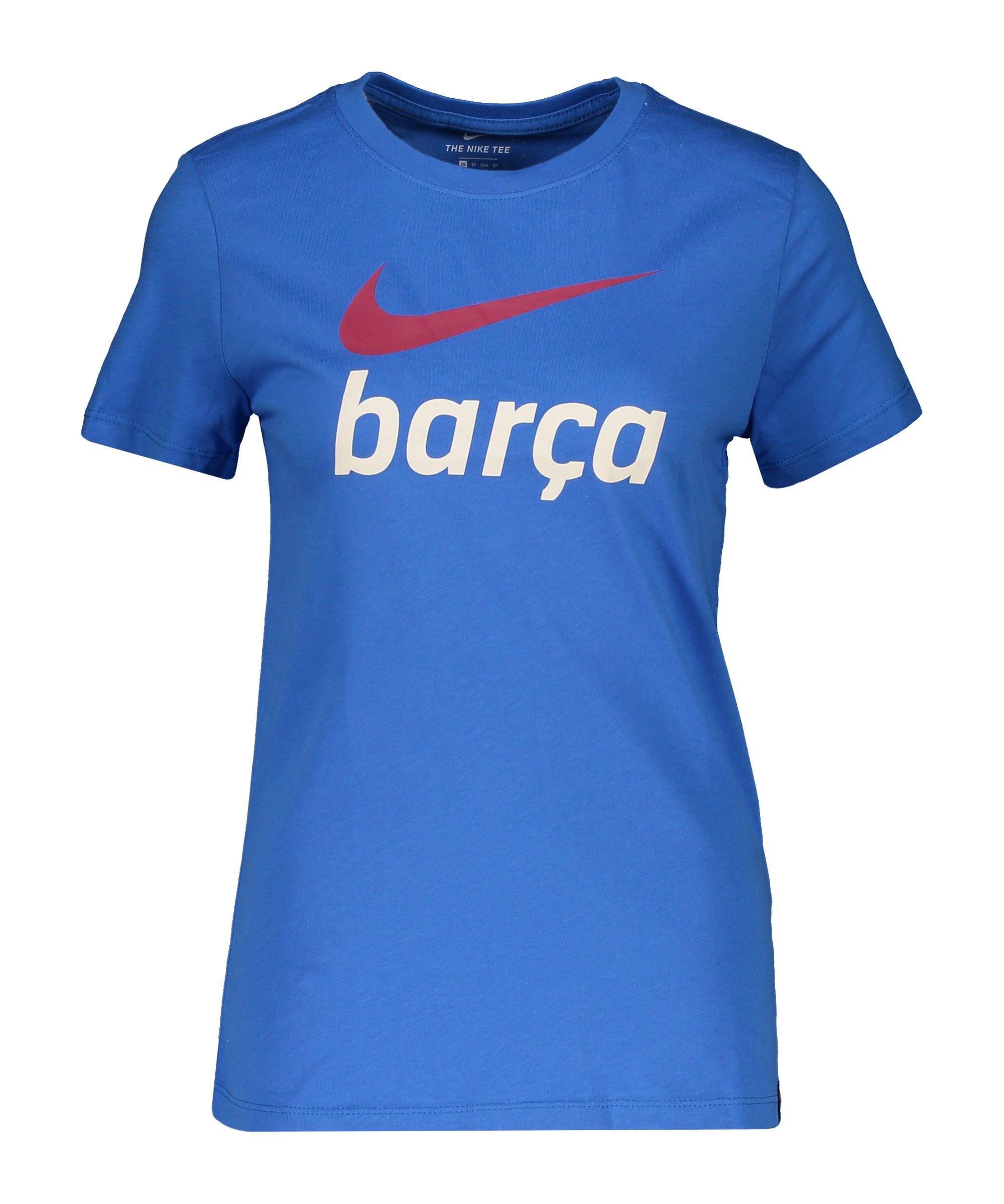 Nike FC Barcelona Swoosh Club T-Shirt Damen Blau F403 - blau