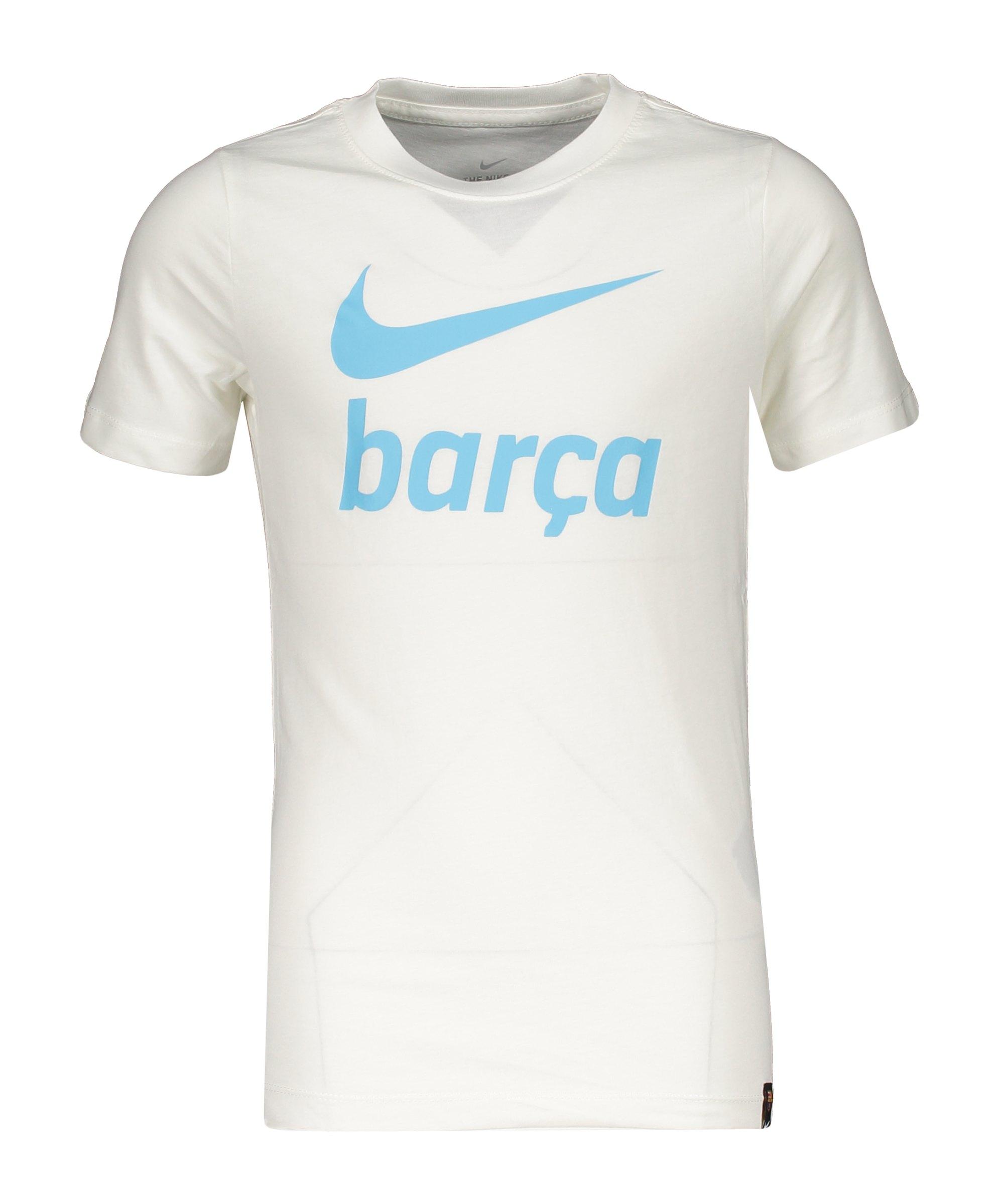 Nike FC Barcelona Swoosh T-Shirt Kids Weiss F133 - weiss