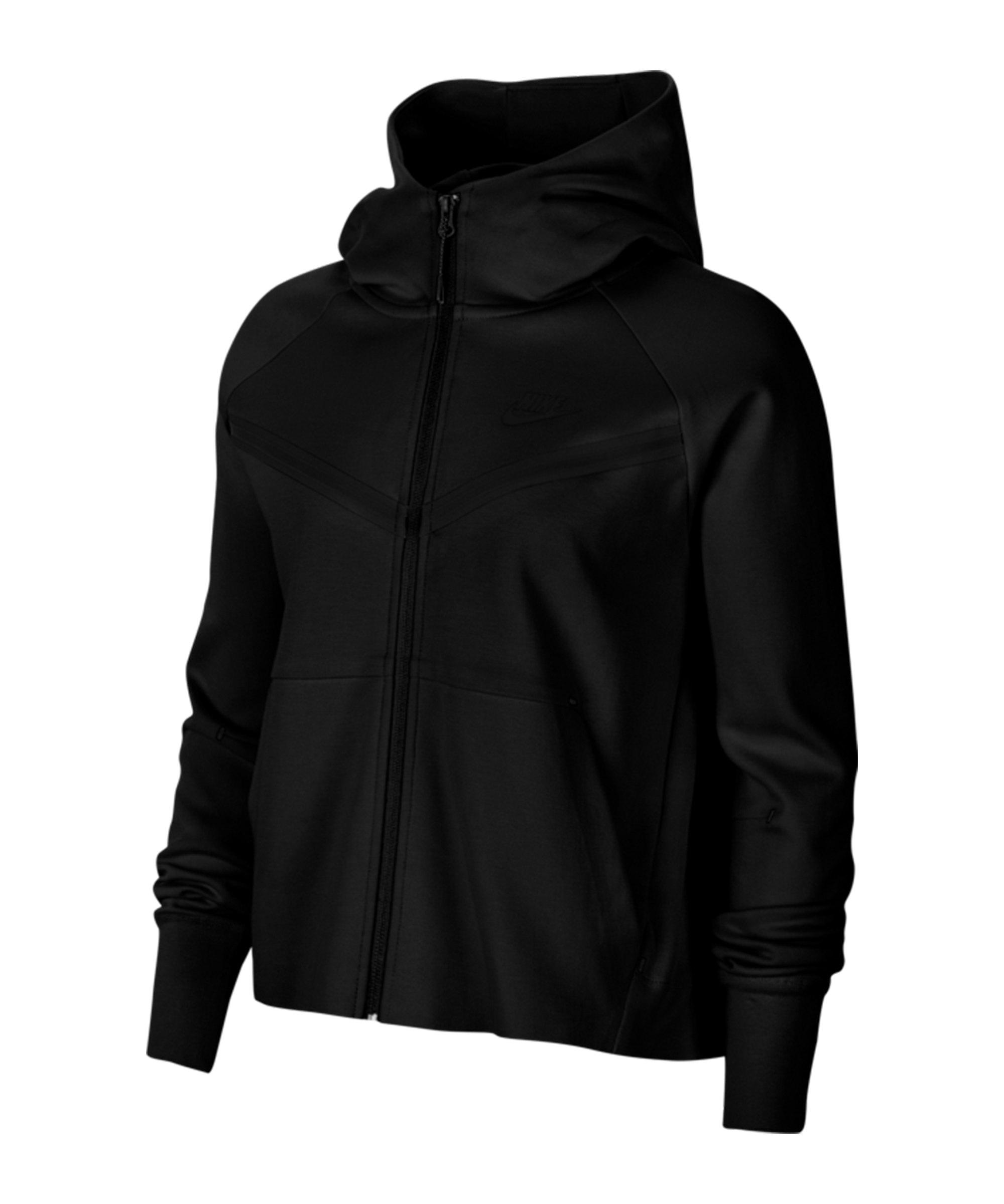 Nike Tech Fleece Windrunner Damen Schwarz F010 - schwarz