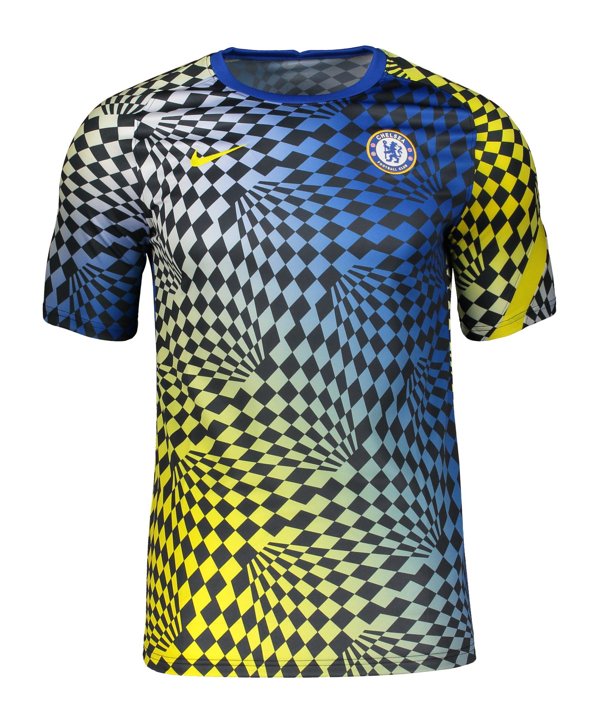 Nike FC Chelsea London Prematch Shirt 2021/2022 F406 - blau