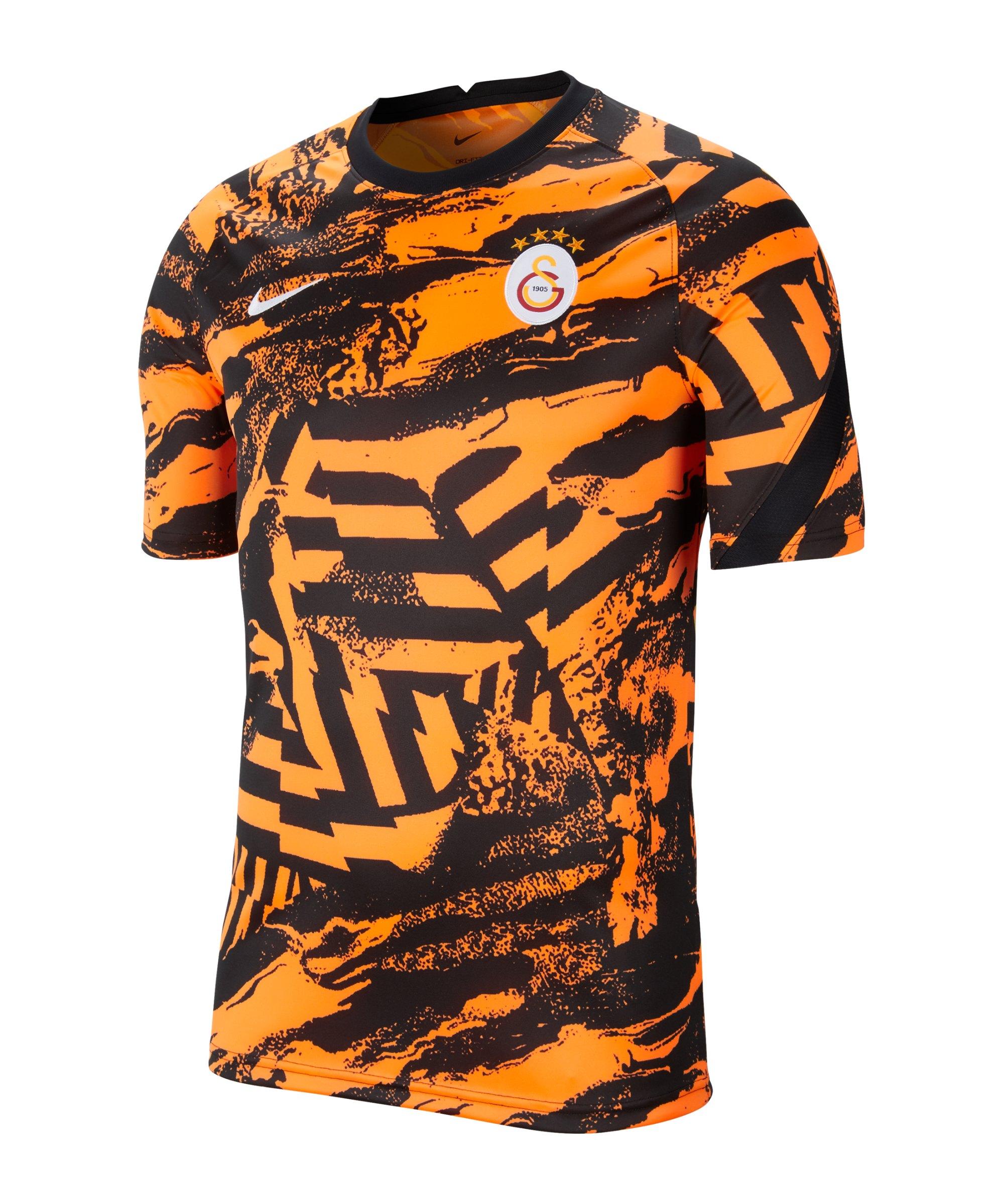 Nike Galatasaray Istanbul Prematch Shirt 2021/2022 Kids F804 - orange
