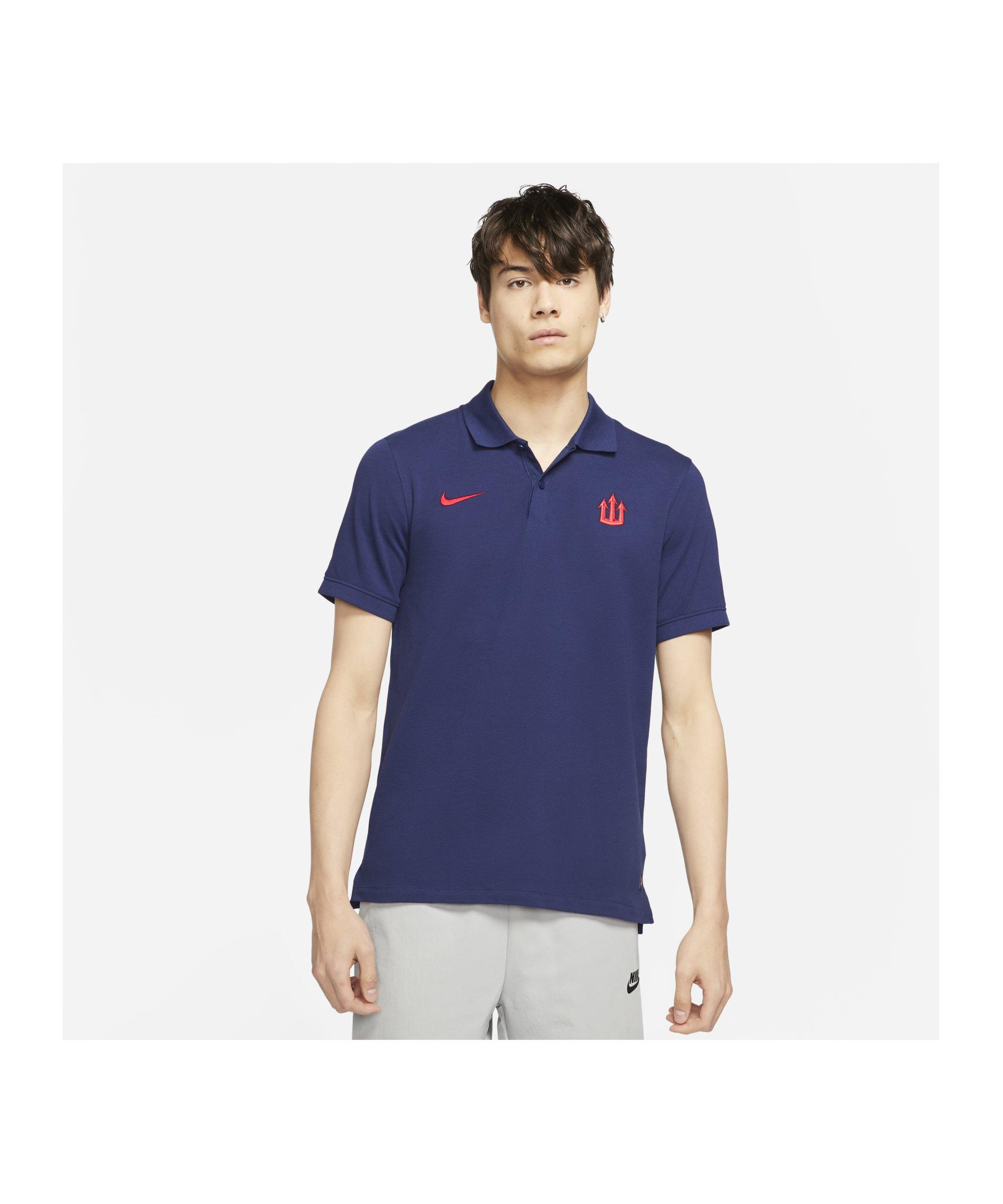 Nike Atletico Madrid Slim Poloshirt Blau F421 - blau