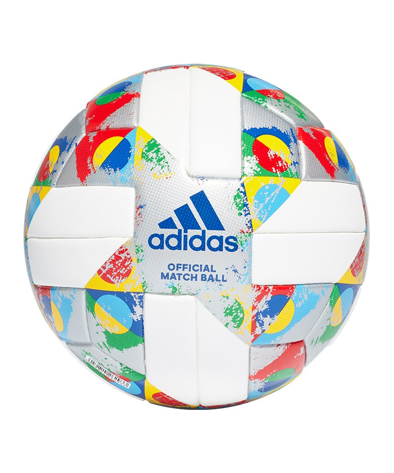 adidas UEFA Nations League OMB Spielball Weiss - weiss