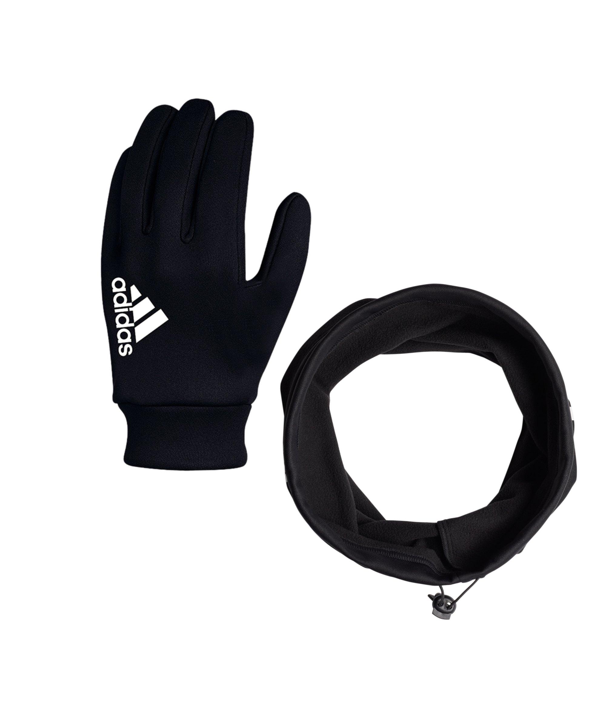 adidas 2er Winter Set Handschuh + Neckwarmer Schwarz - schwarz