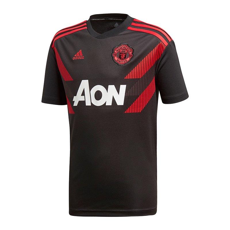 adidas Manchester United Prematch Kids Schwarz - schwarz