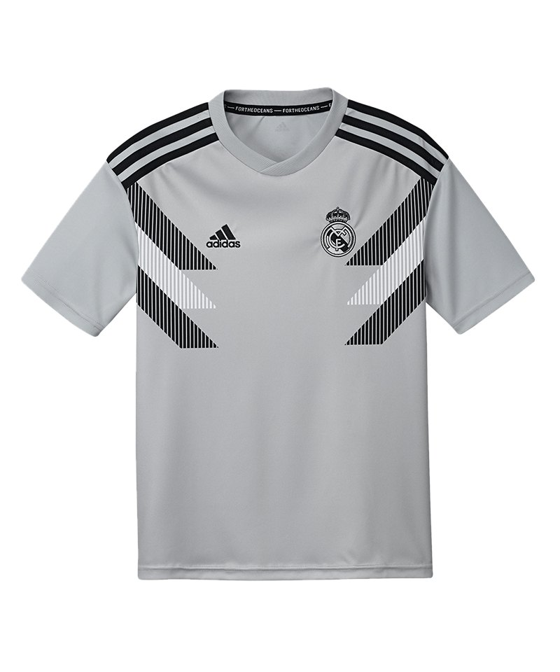 adidas Real Madrid Prematch Shirt Kids Grau - grau