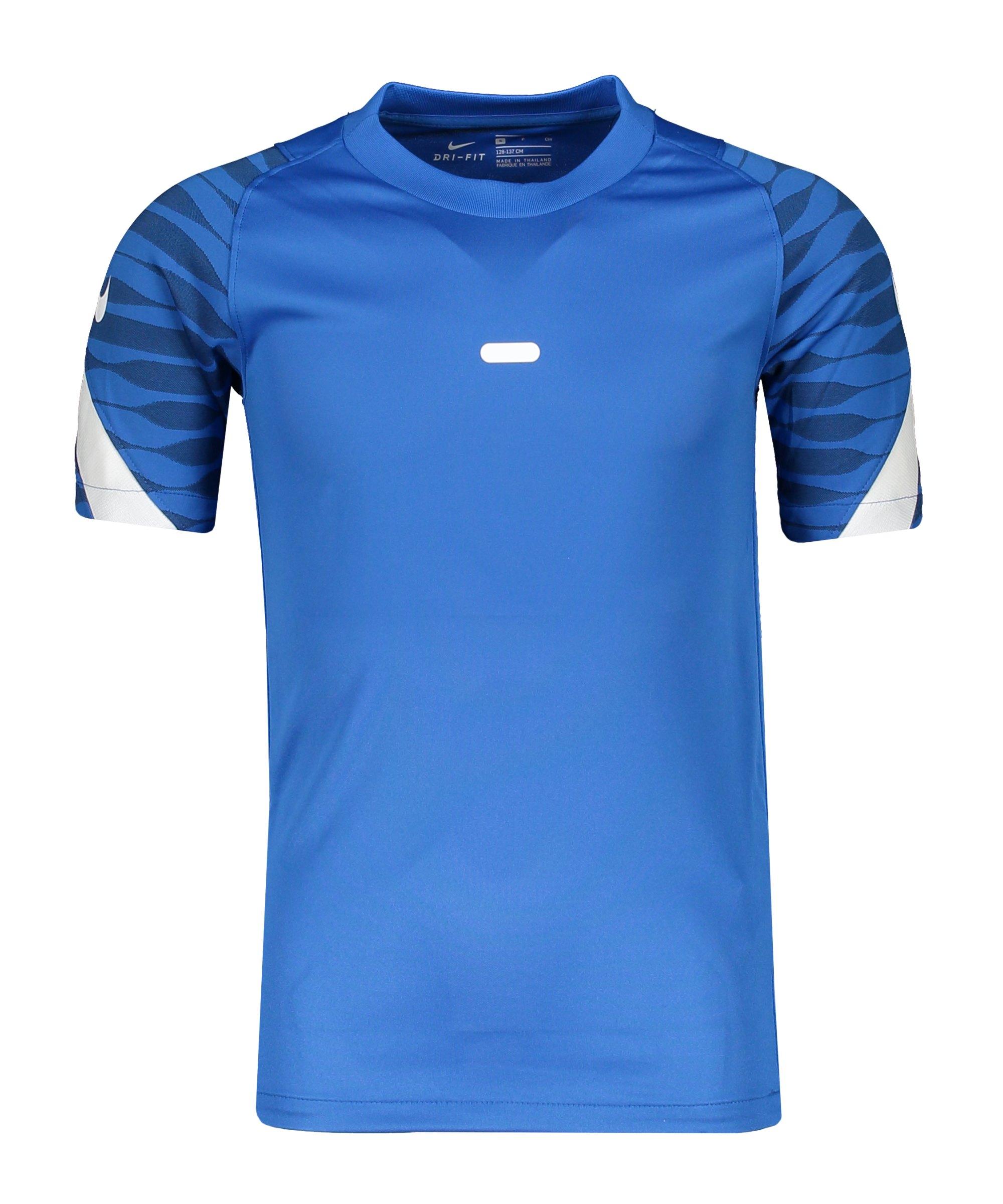 Nike Strike 21 T-Shirt Blau Weiss F463 - blau