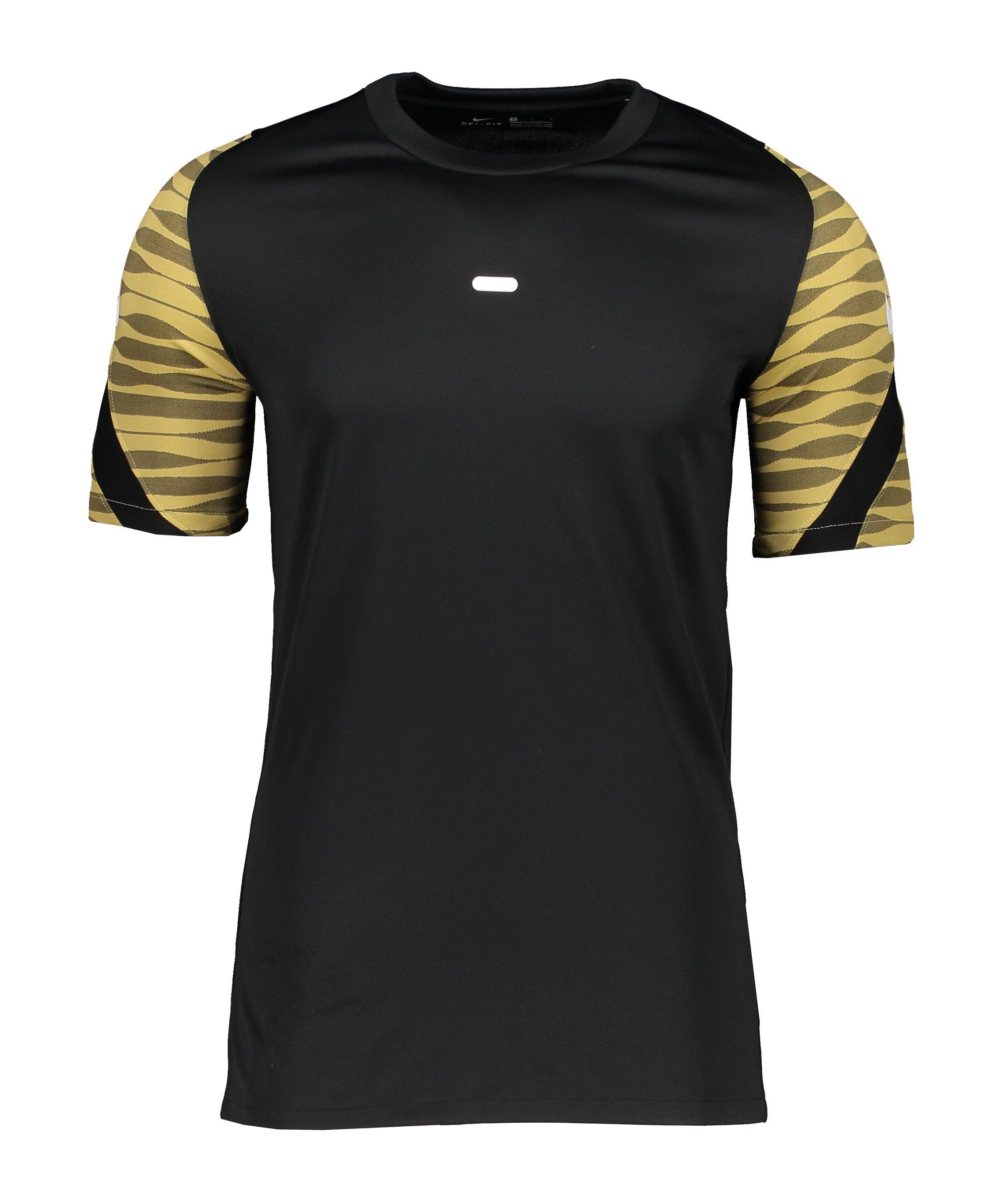 Nike Strike 21 T-Shirt Schwarz Gold F011 - schwarz