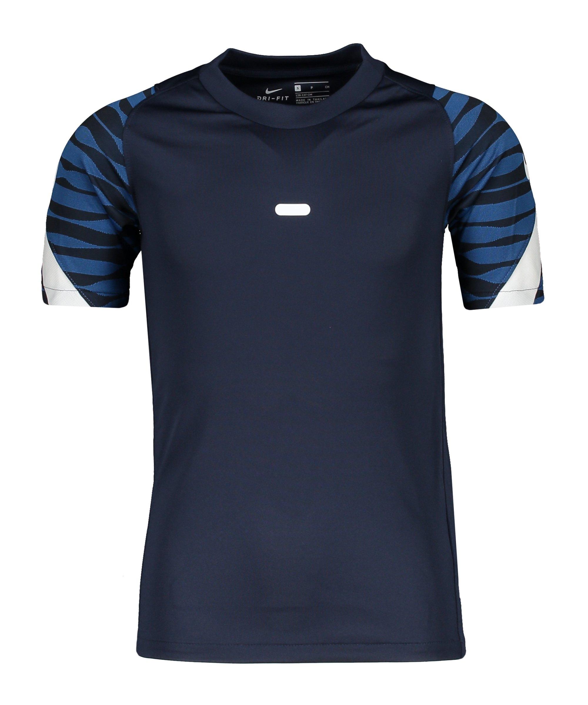 Nike Strike 21 T-Shirt Kids Blau Weiss F451 - blau