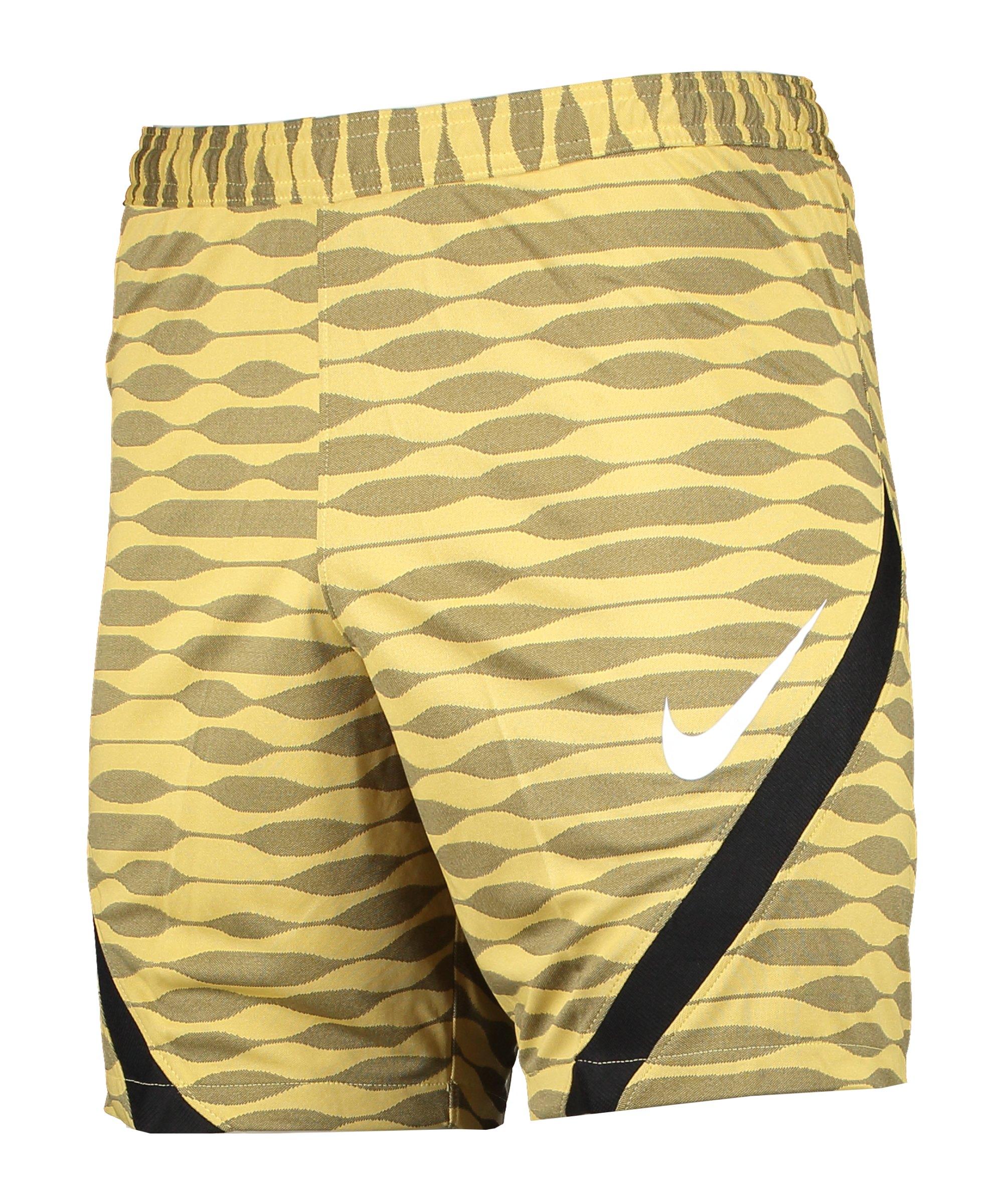 Nike Strike 21 Knit Short Gold Schwarz F700 - gelb