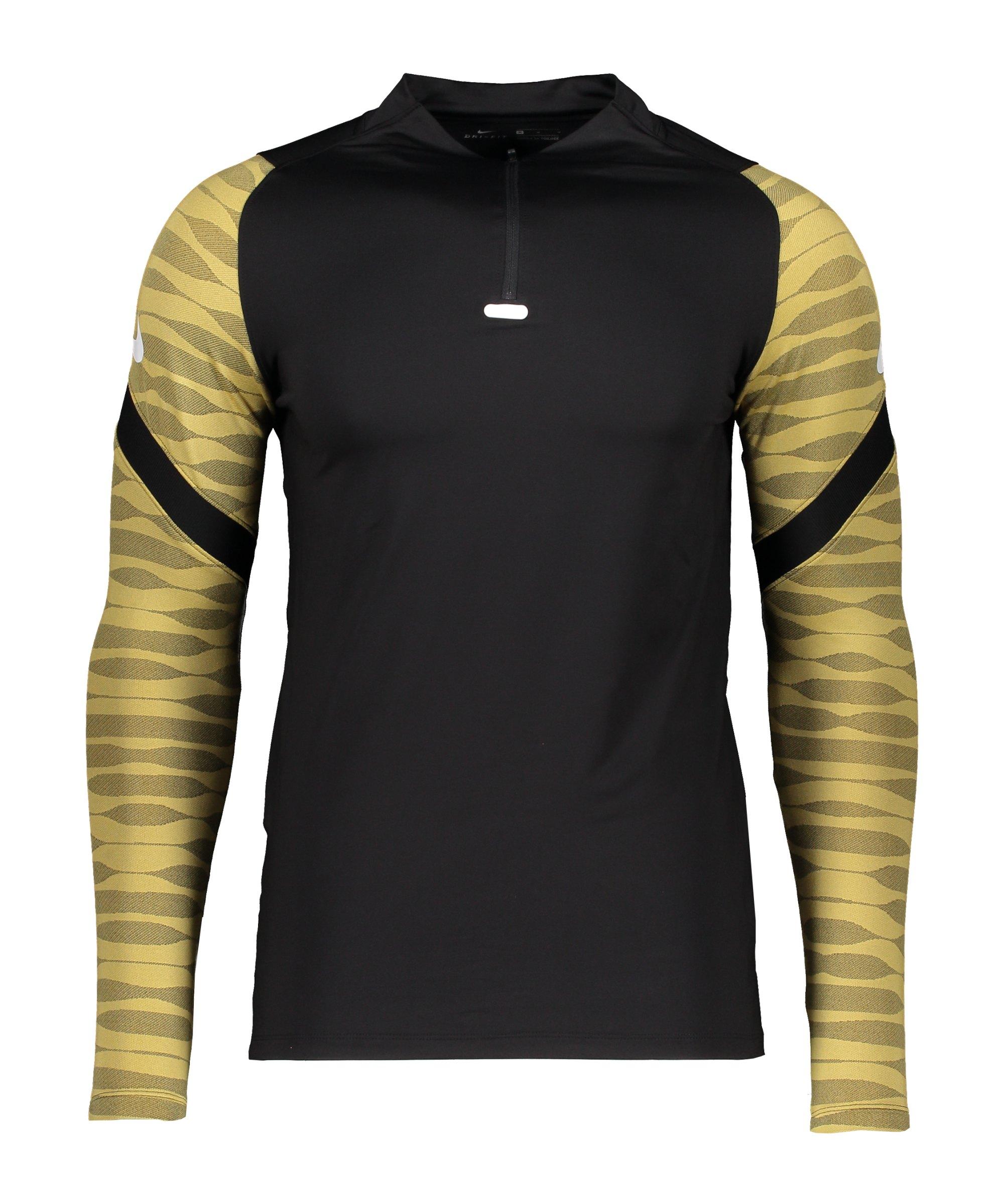 Nike Strike 21 Drill Top Schwarz Gold Weiss F011 - schwarz
