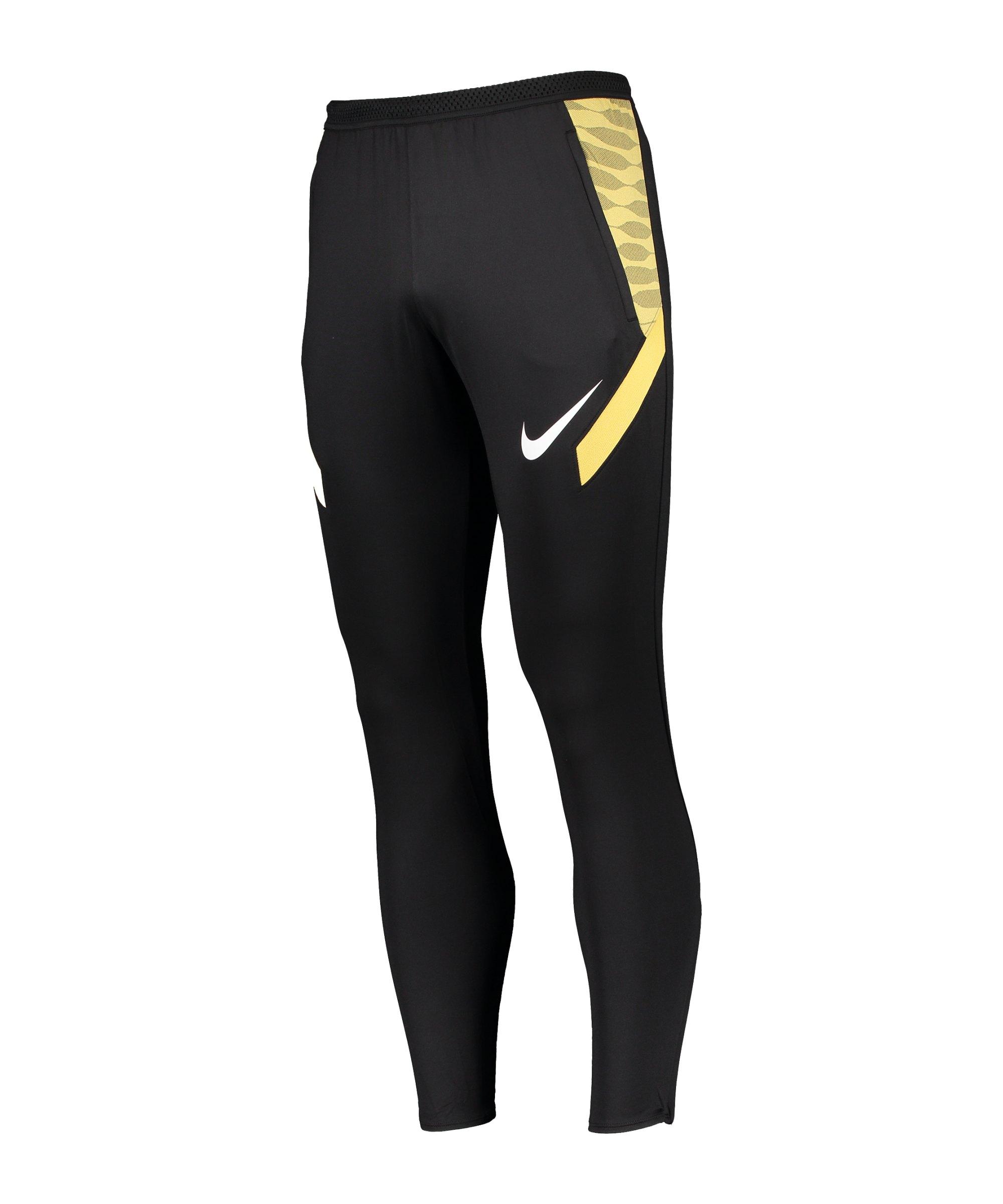 Nike Strike 21 Trainingshose Schwarz Gold F014 - schwarz
