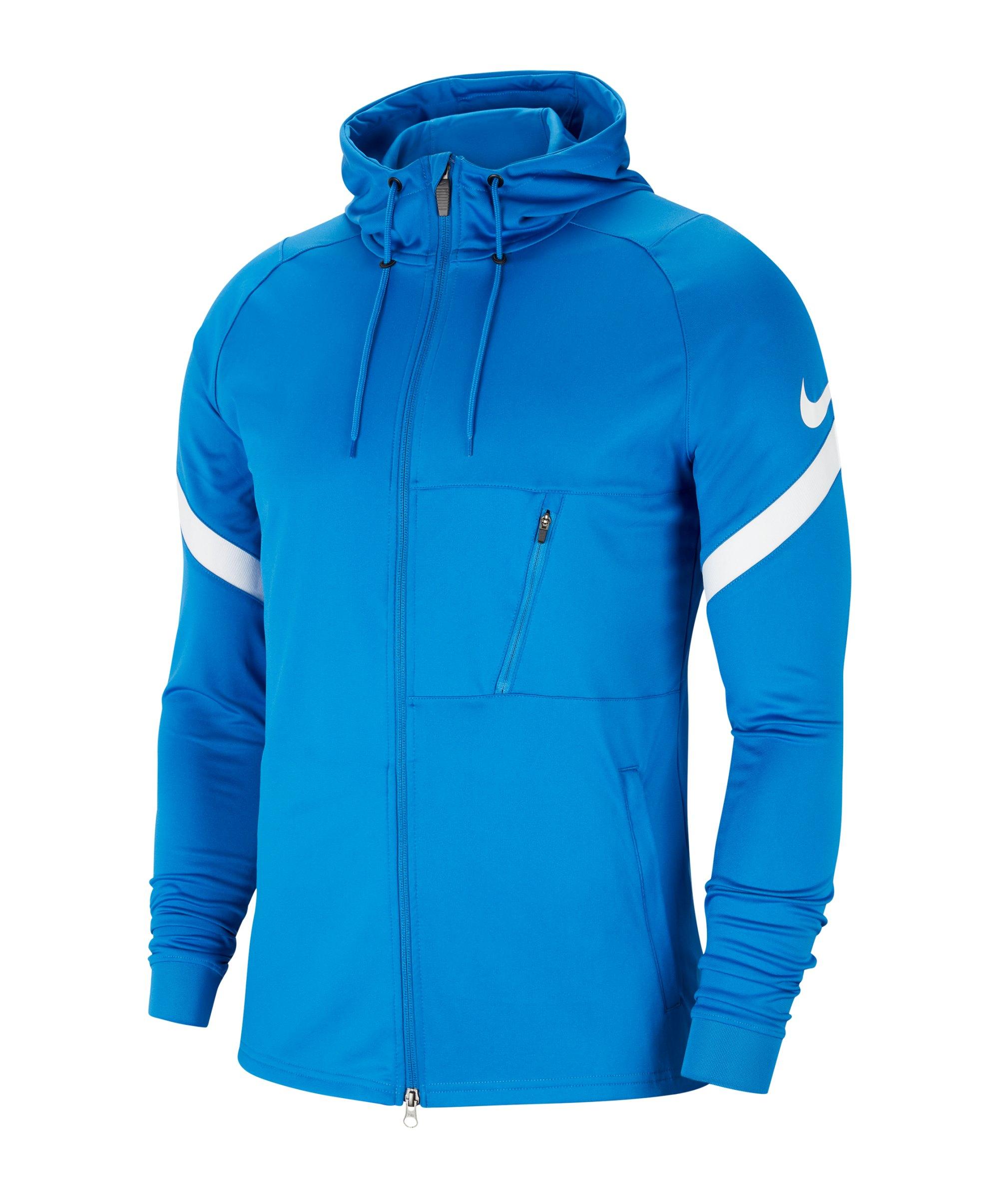 Nike Strike 21 Kapuzenjacke Blau Weiss F463 - blau