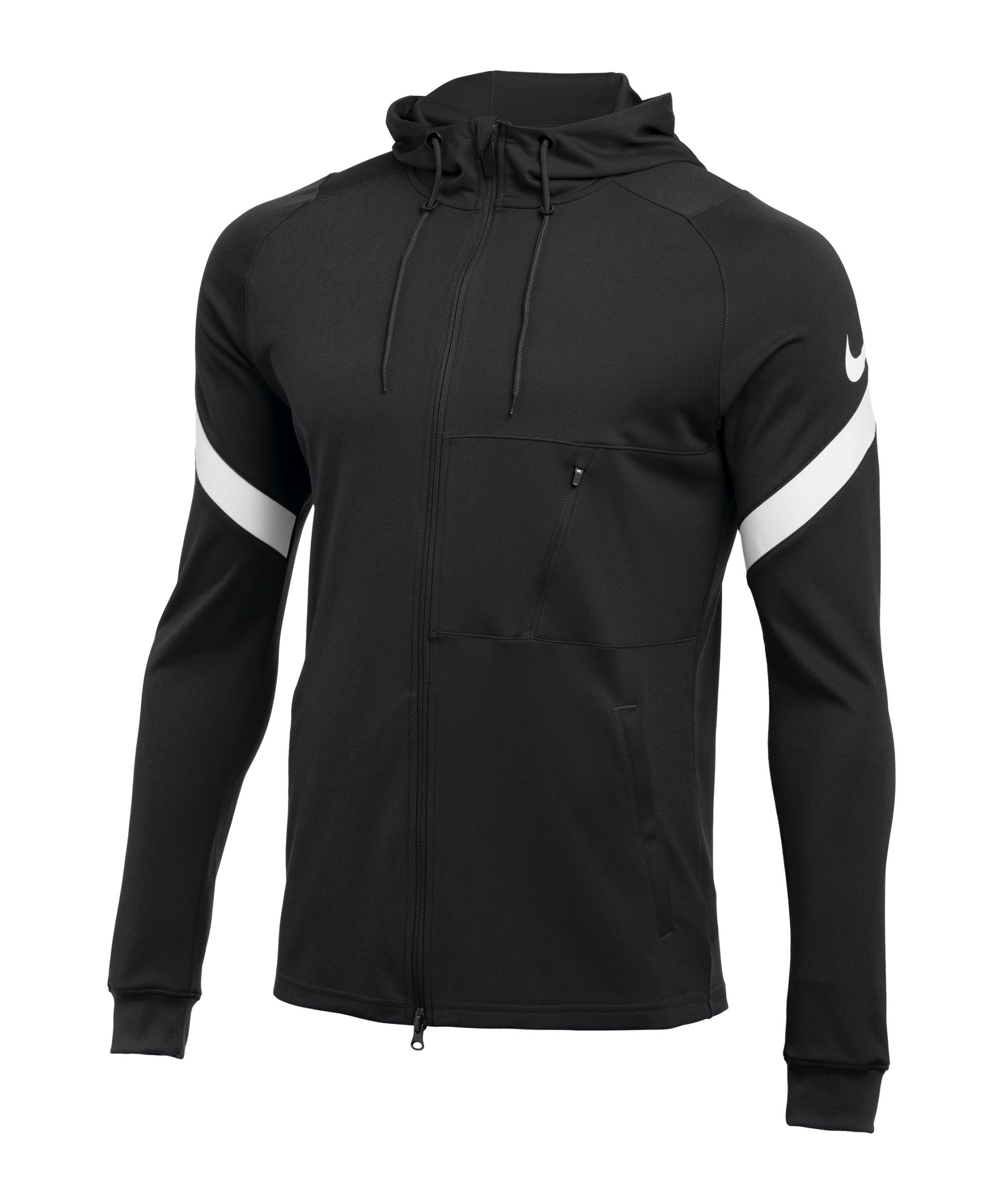 Nike Strike 21 Kapuzenjacke Schwarz Weiss F010 - schwarz