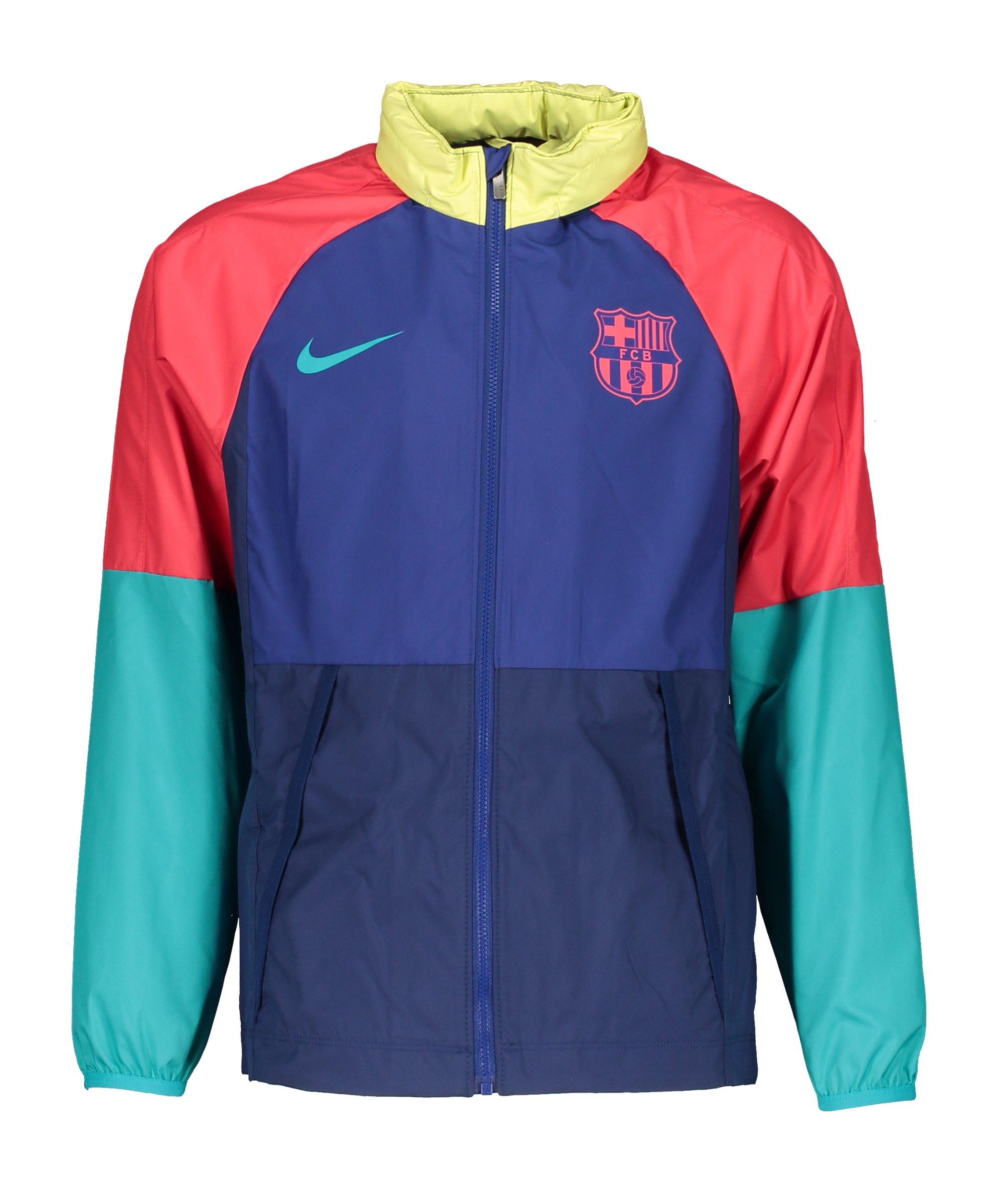 Nike FC Barcelona Allwetterjacke Kids Blau F455 - blau