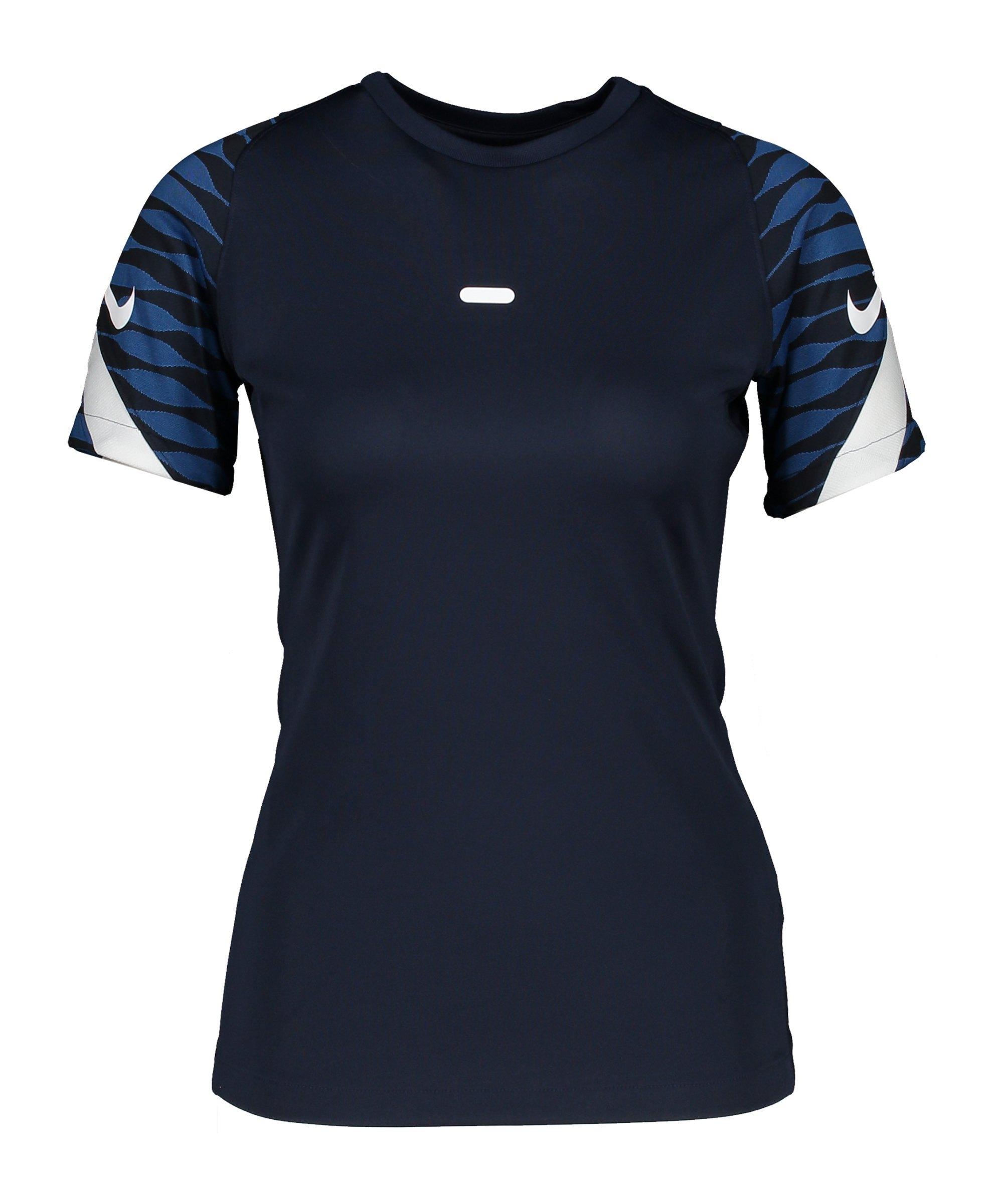 Nike Strike 21 T-Shirt Damen Blau Weiss F451 - blau