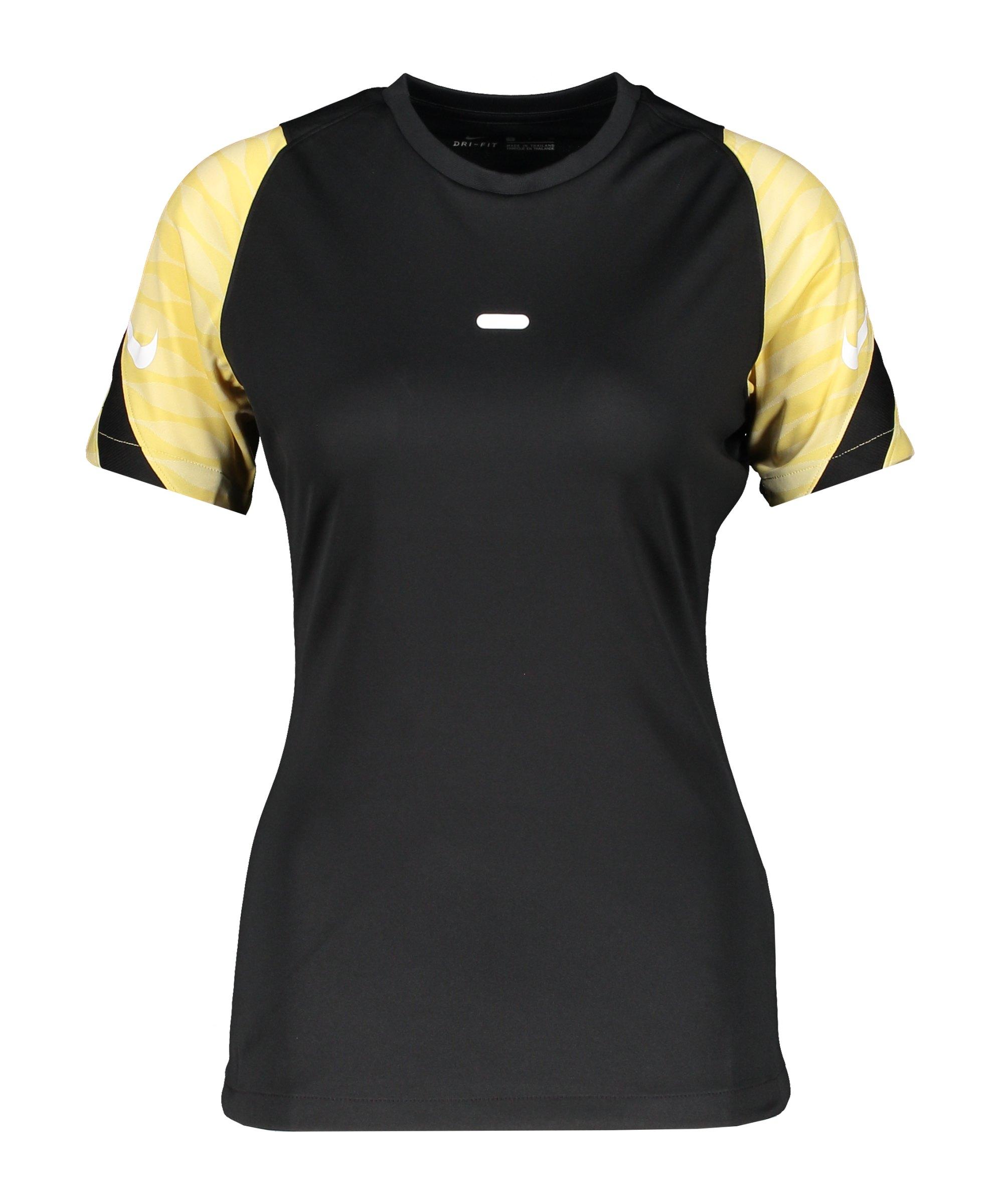 Nike Strike 21 T-Shirt Damen Schwarz Gold F011 - schwarz
