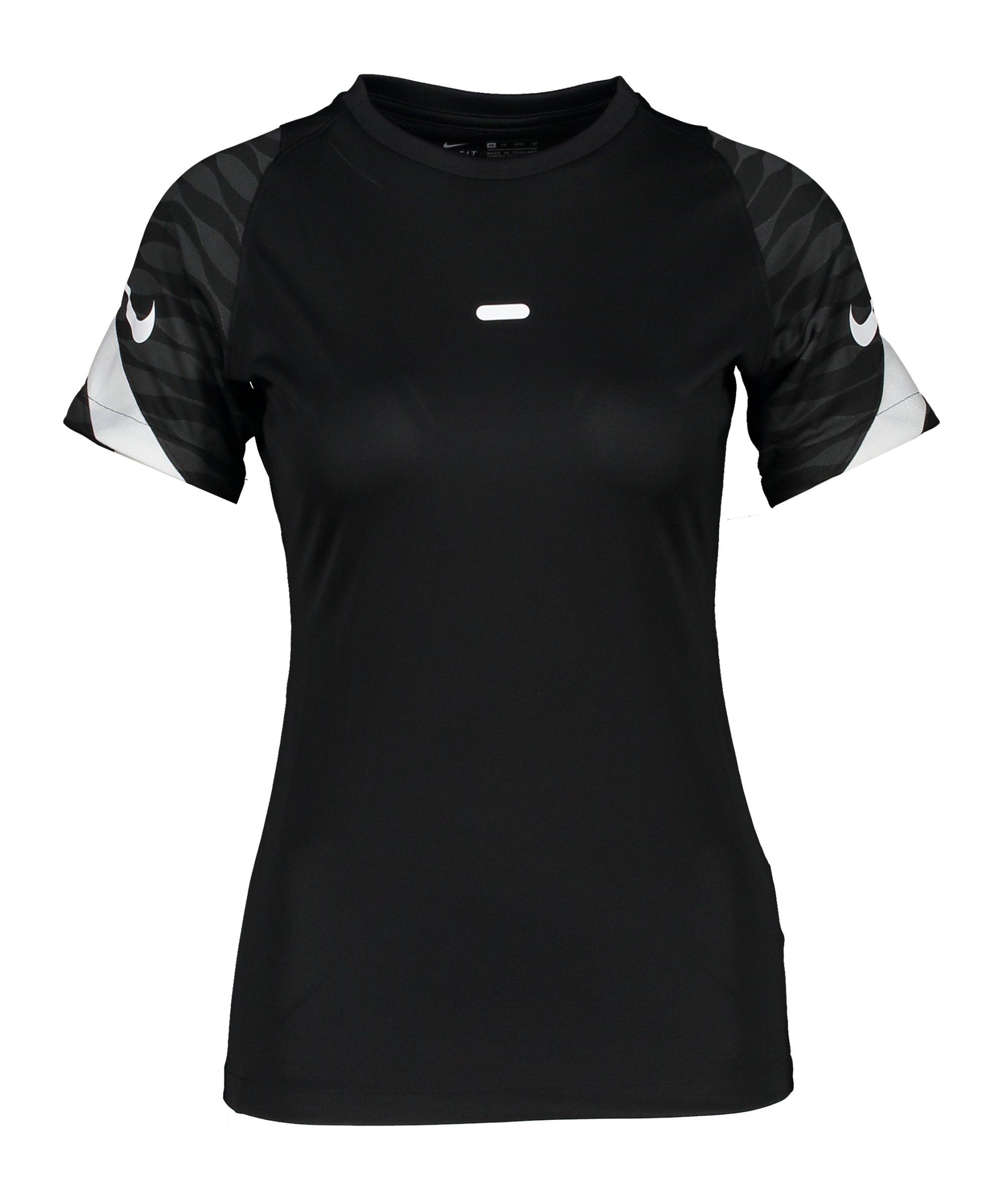 Nike Strike 21 T-Shirt Damen Schwarz Weiss F010 - schwarz
