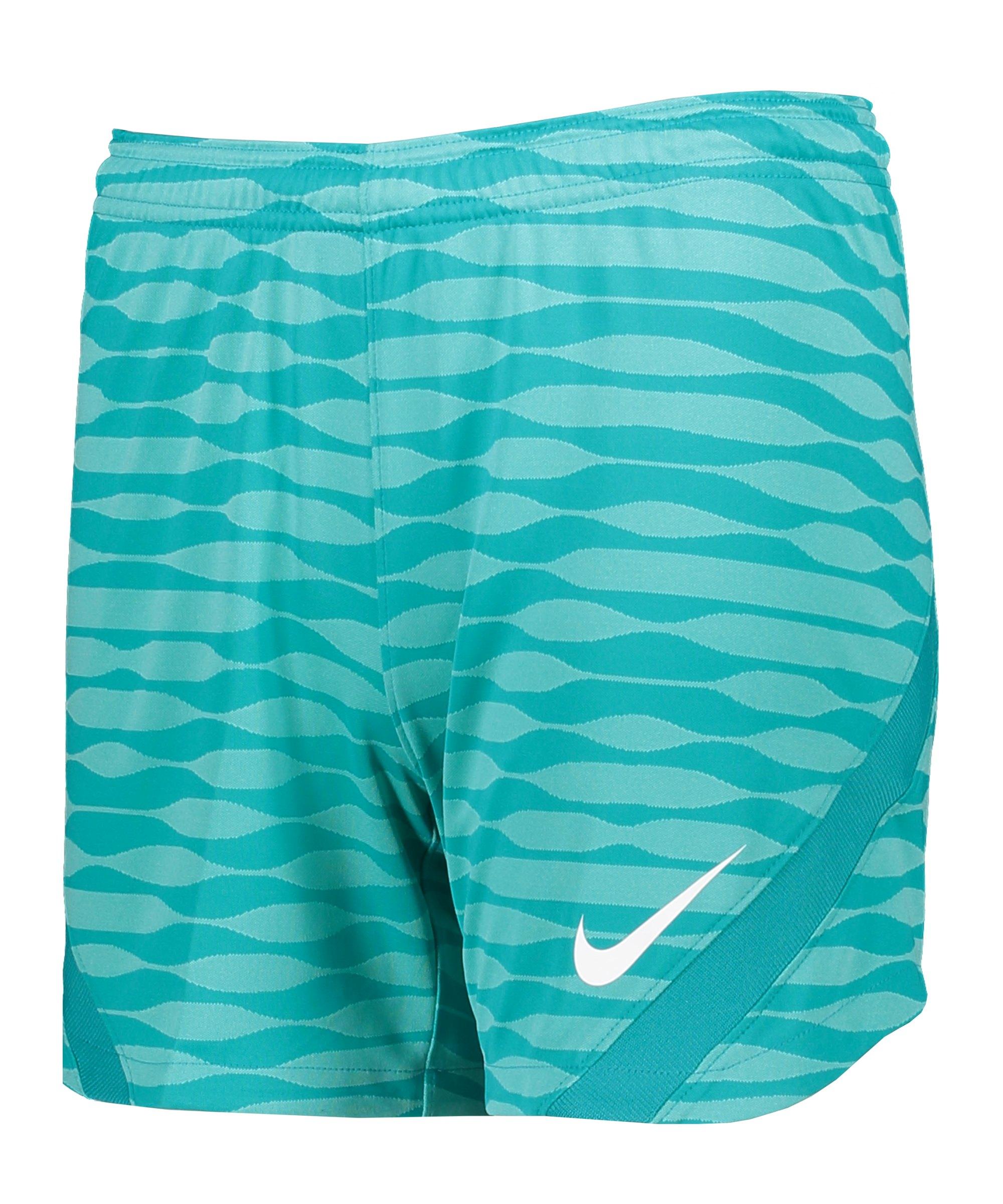 Nike Strike 21 Knit Short Damen Blau Weiss F307 - tuerkis
