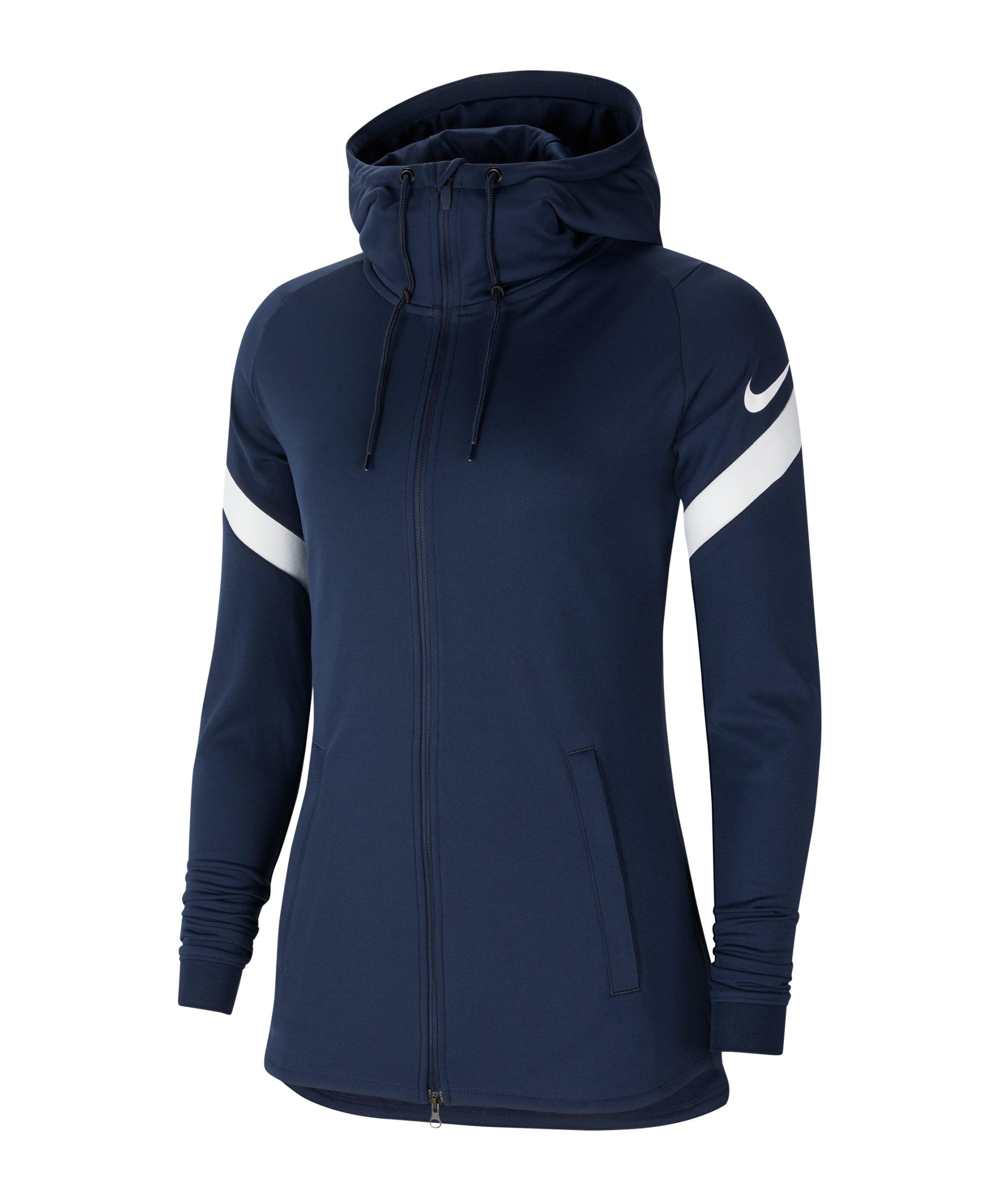 Nike Strike 21 Kapuzenjacke Damen Blau Weiss F451 - blau