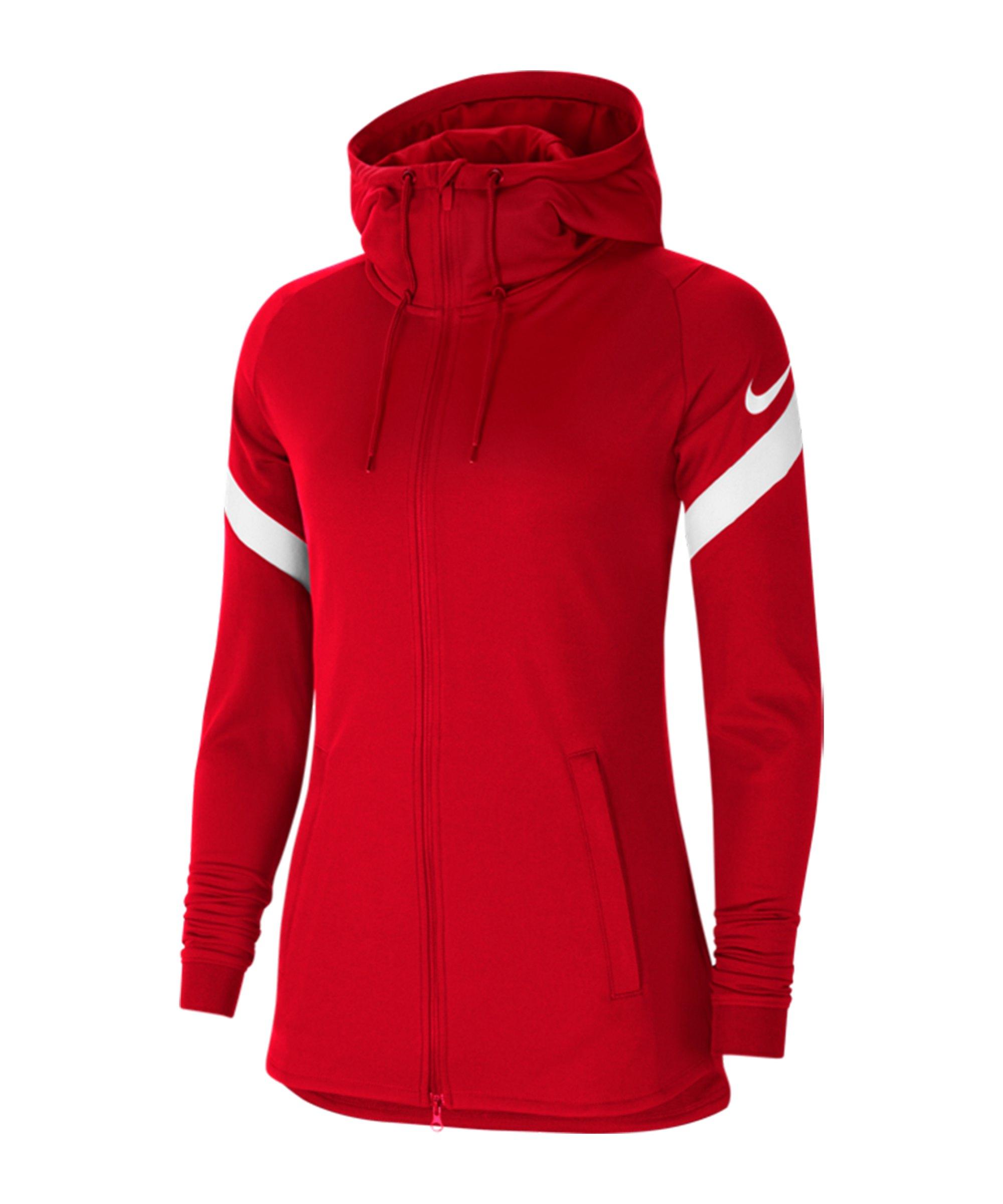 Nike Strike 21 Kapuzenjacke Damen Rot F657 - rot