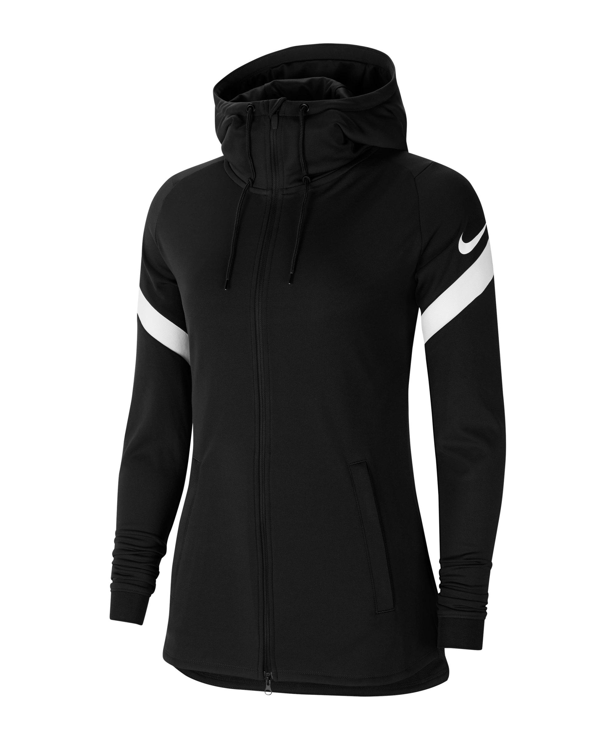 Nike Strike 21 Kapuzenjacke Damen Schwarz F010 - schwarz
