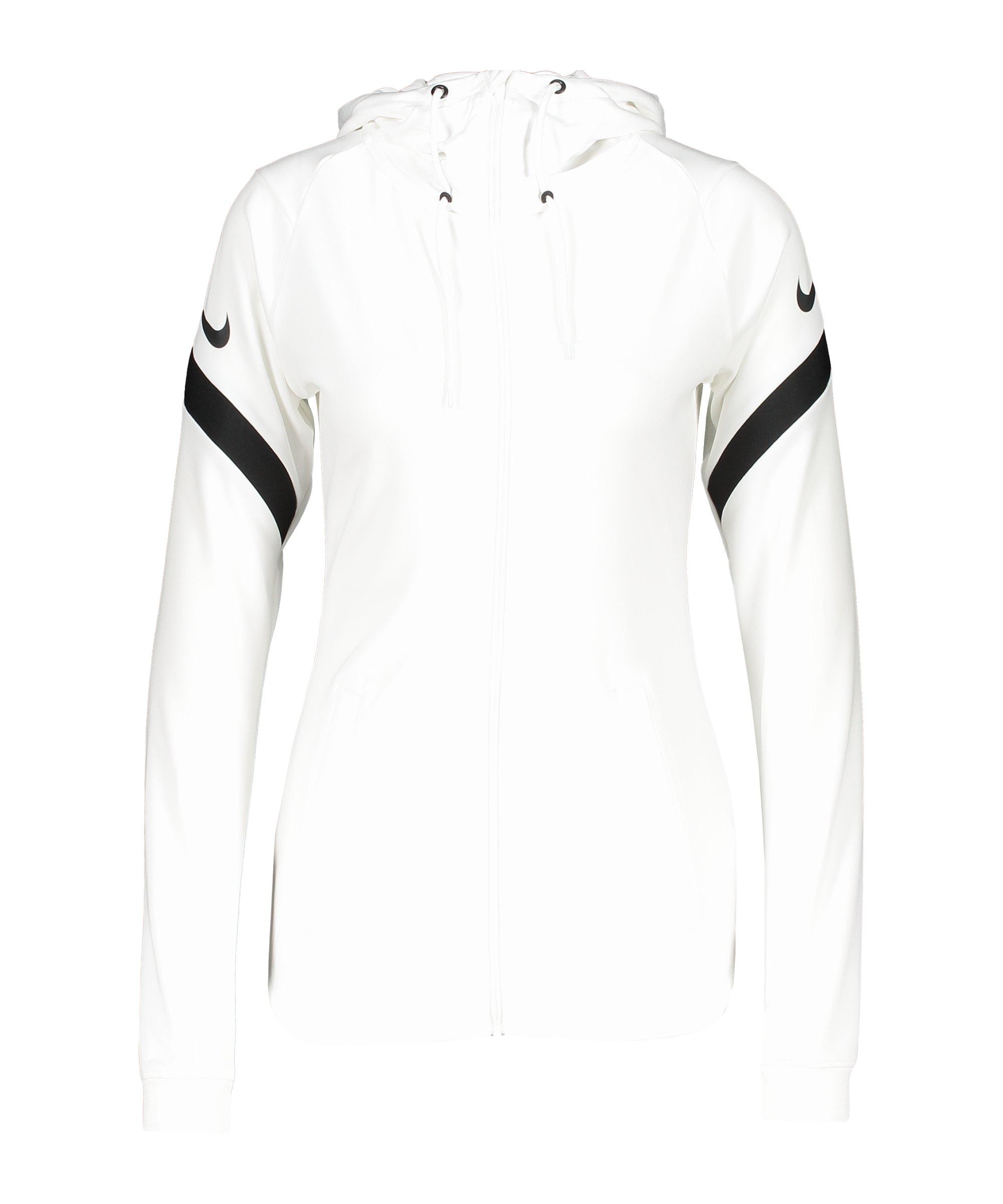 Nike Strike 21 Kapuzenjacke Damen Weiss F100 - weiss