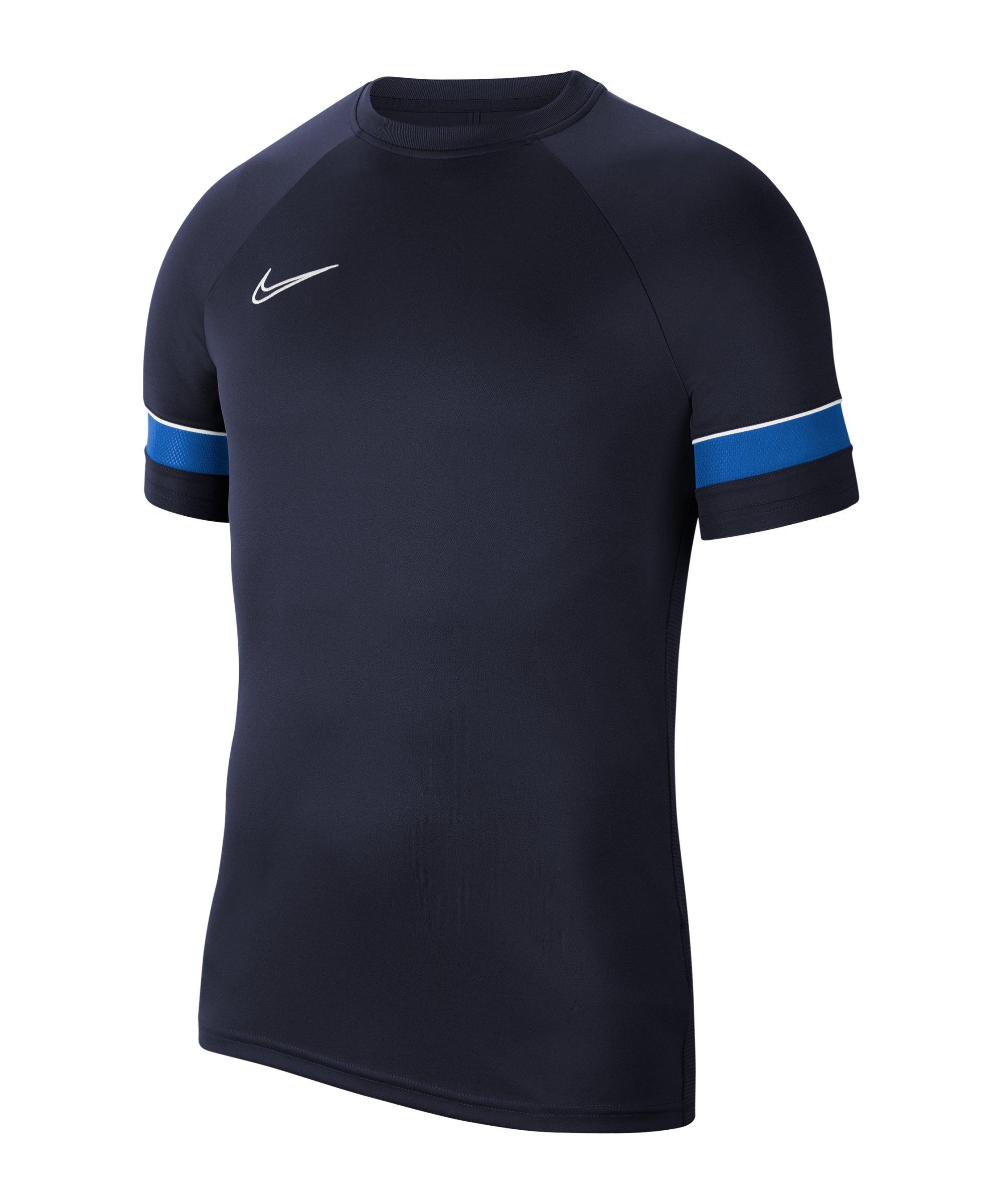 Nike Academy 21 T-Shirt Blau Weiss F453 - blau
