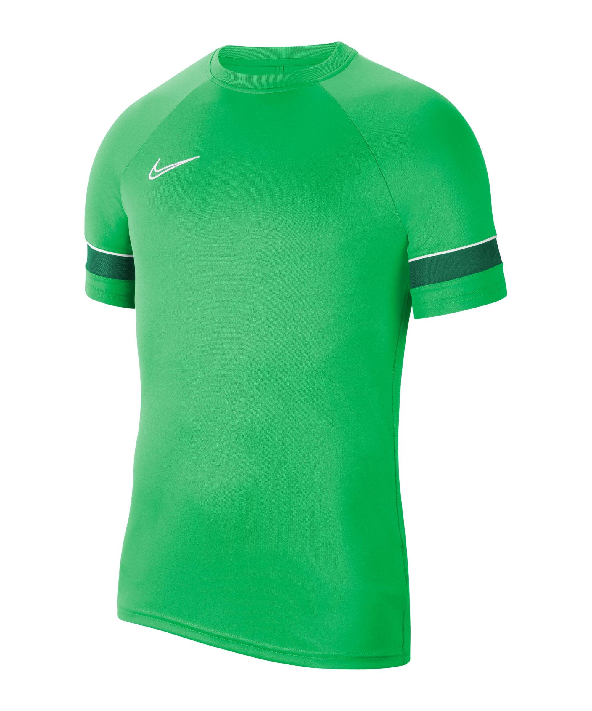 Nike Academy 21 T-Shirt Grün Weiss F362 - gruen