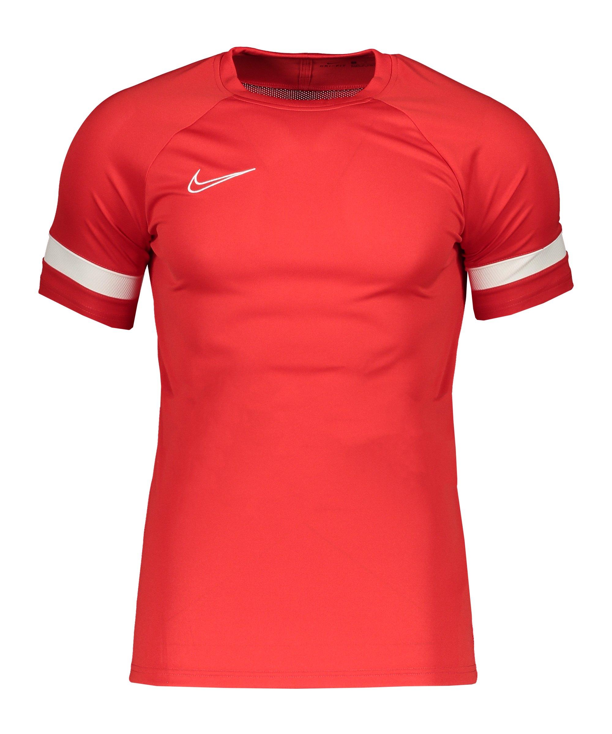 Nike Academy 21 T-Shirt Rot Weiss F658 - rot
