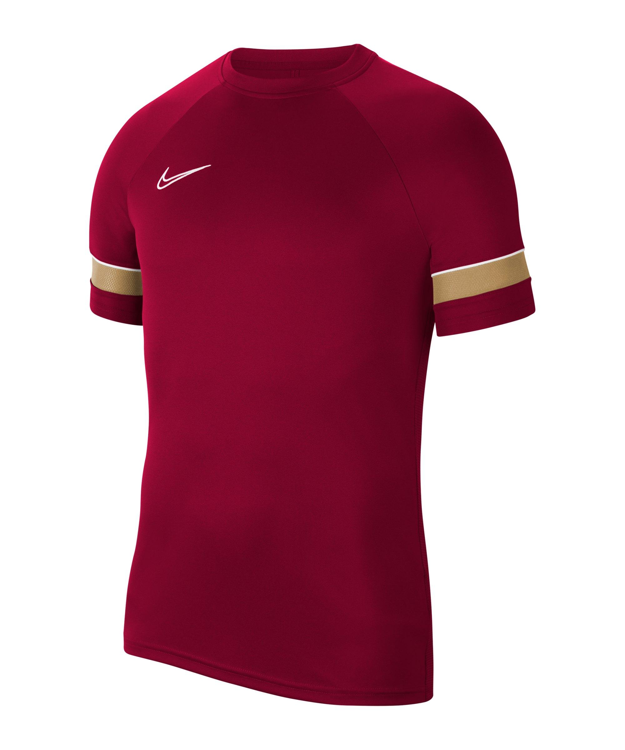 Nike Academy 21 T-Shirt Rot Weiss F677 - rot