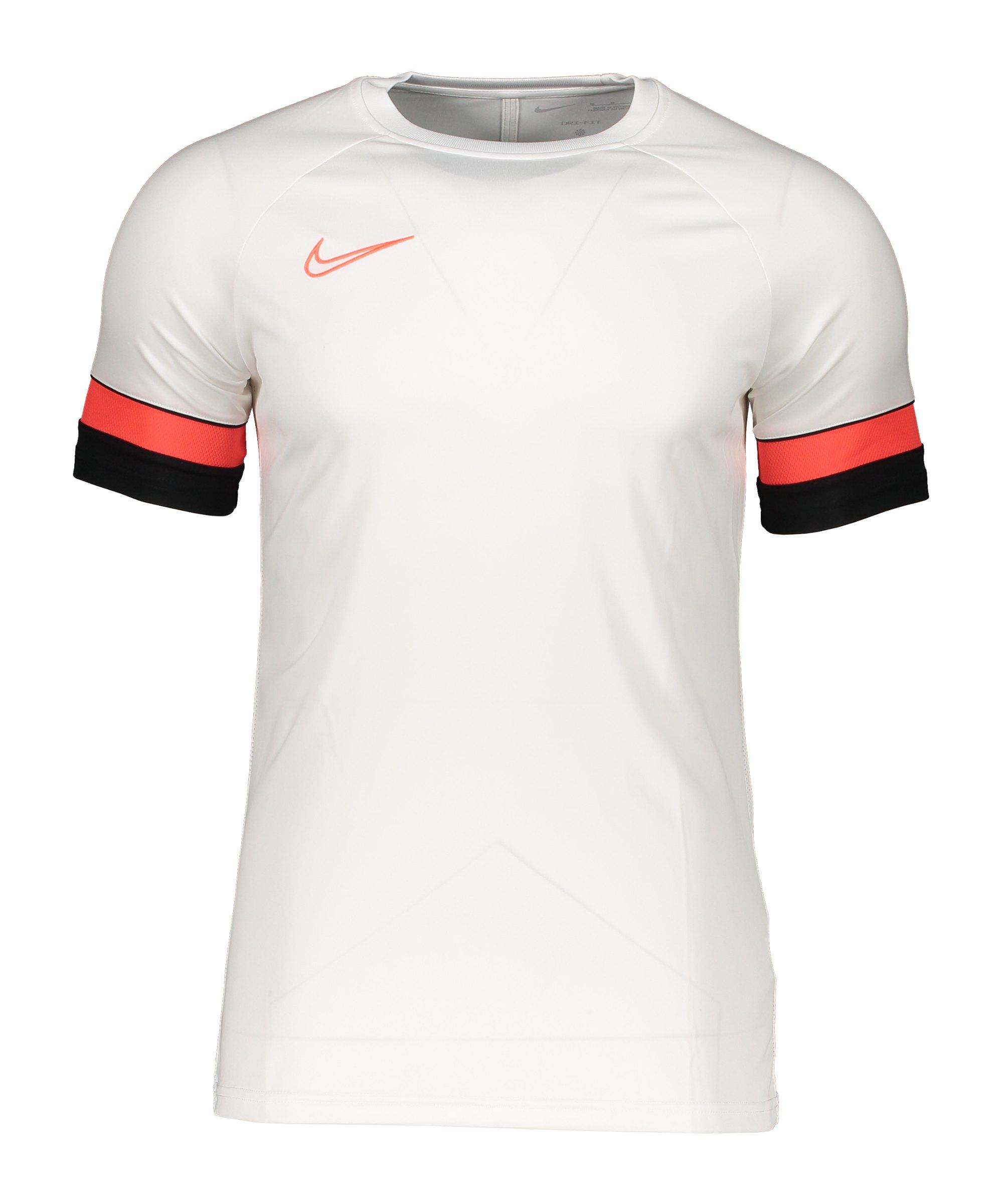 Nike Academy 21 T-Shirt Weiss F101 - weiss