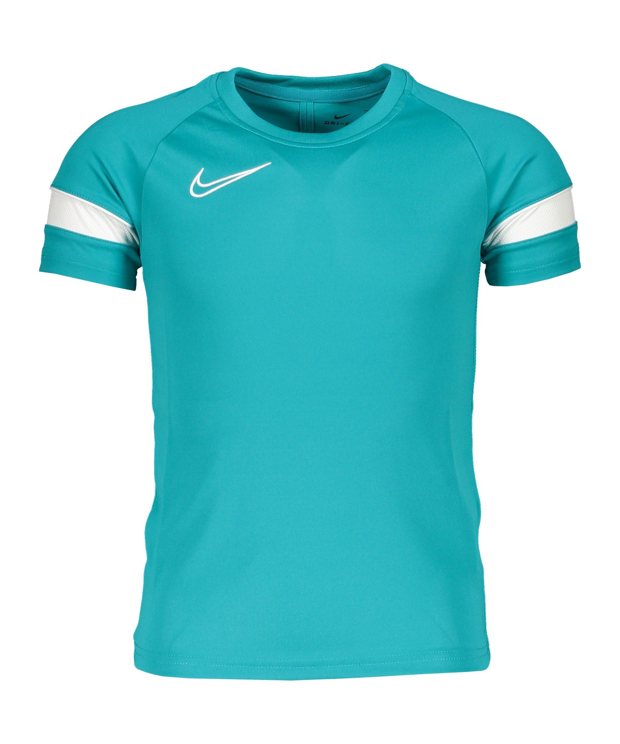 Nike Academy 21 T-Shirt Kids Blau Weiss F356 - tuerkis