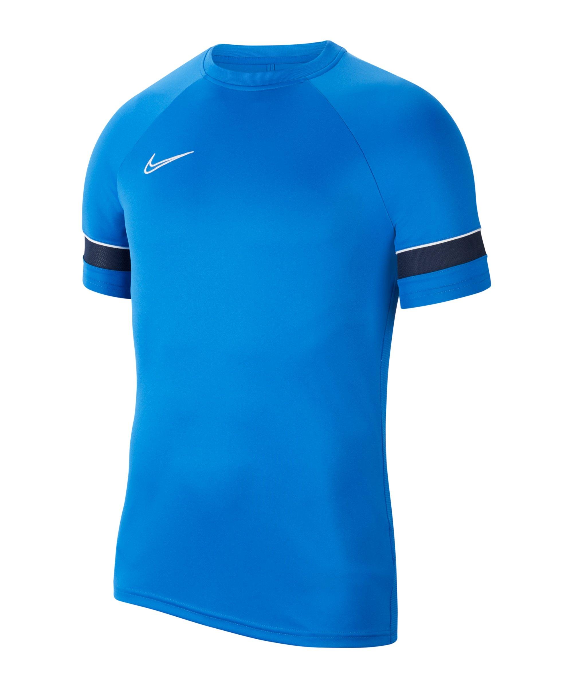 Nike Academy 21 T-Shirt Kids Blau Weiss F463 - blau