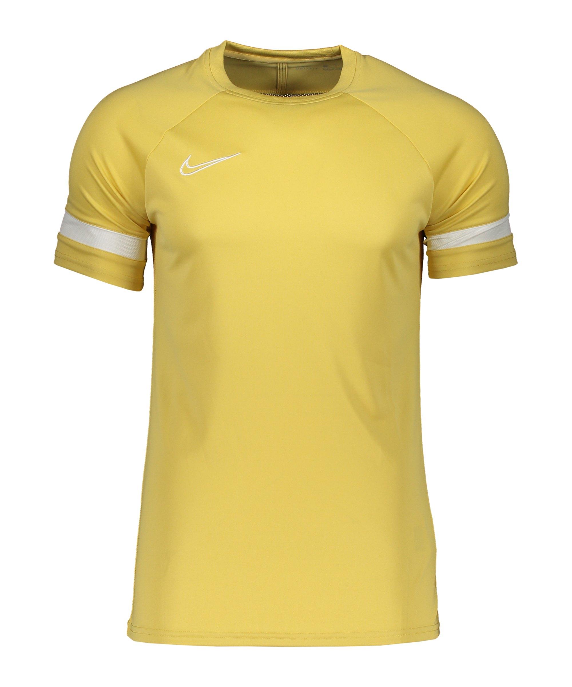 Nike Academy 21 T-Shirt Kids Gold Weiss F700 - gelb