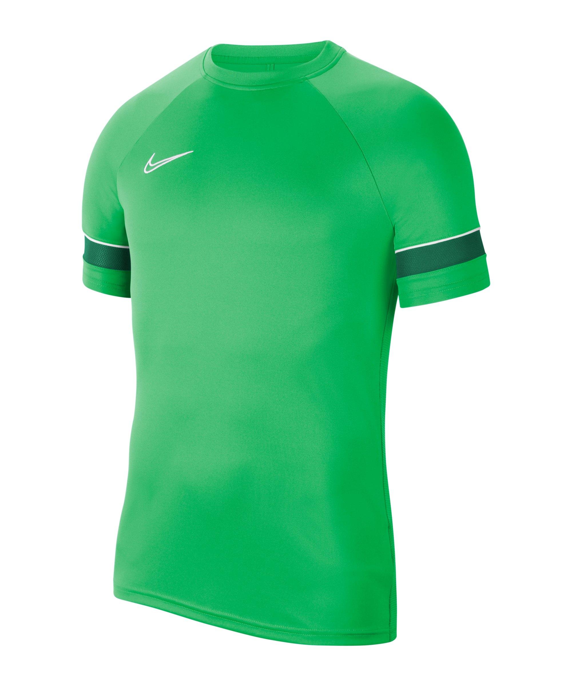 Nike Academy 21 T-Shirt Kids Grün Weiss F362 - gruen