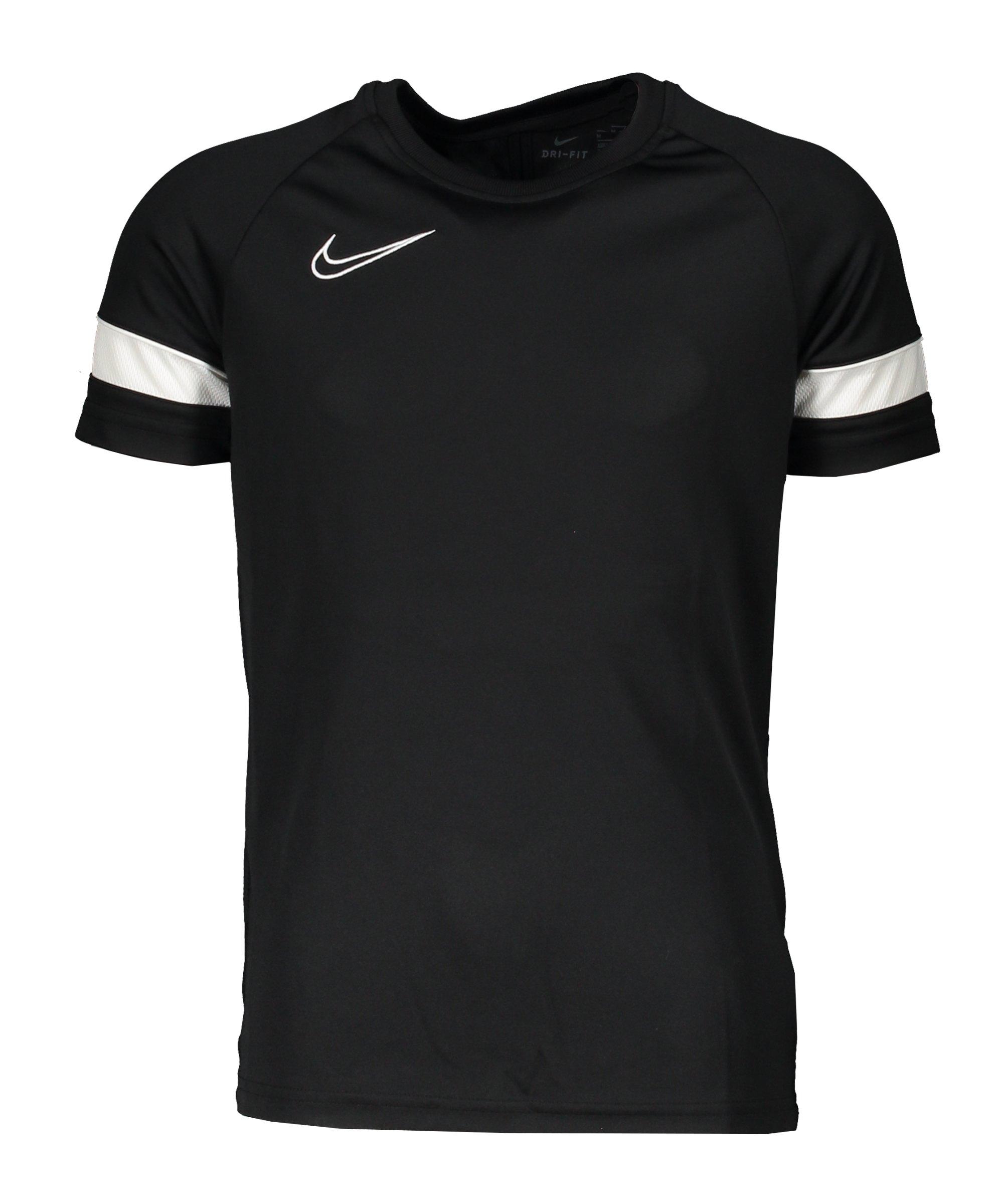 Nike Academy 21 T-Shirt Kids Schwarz F010 - schwarz