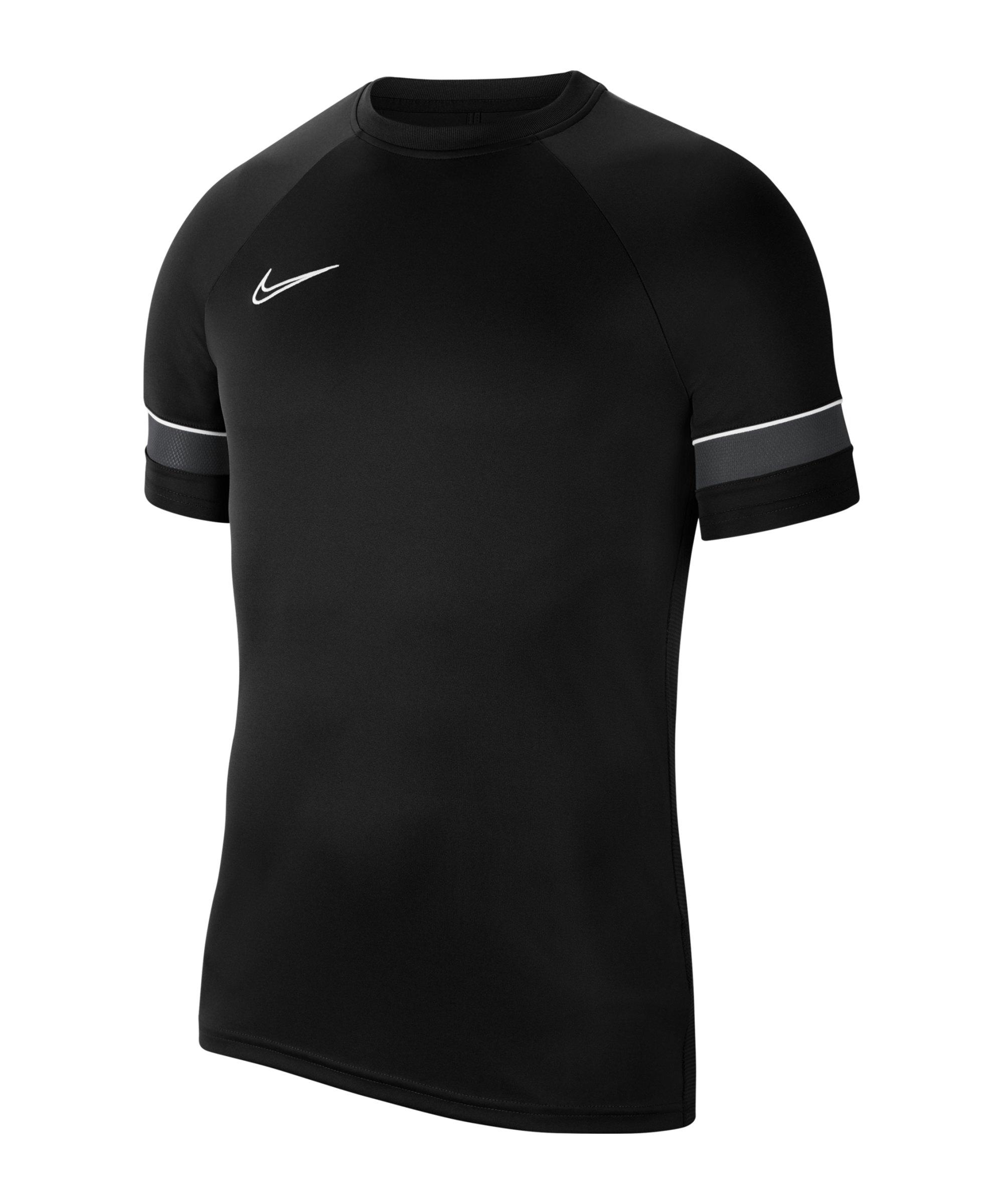 Nike Academy 21 T-Shirt Kids Schwarz Weiss F014 - schwarz
